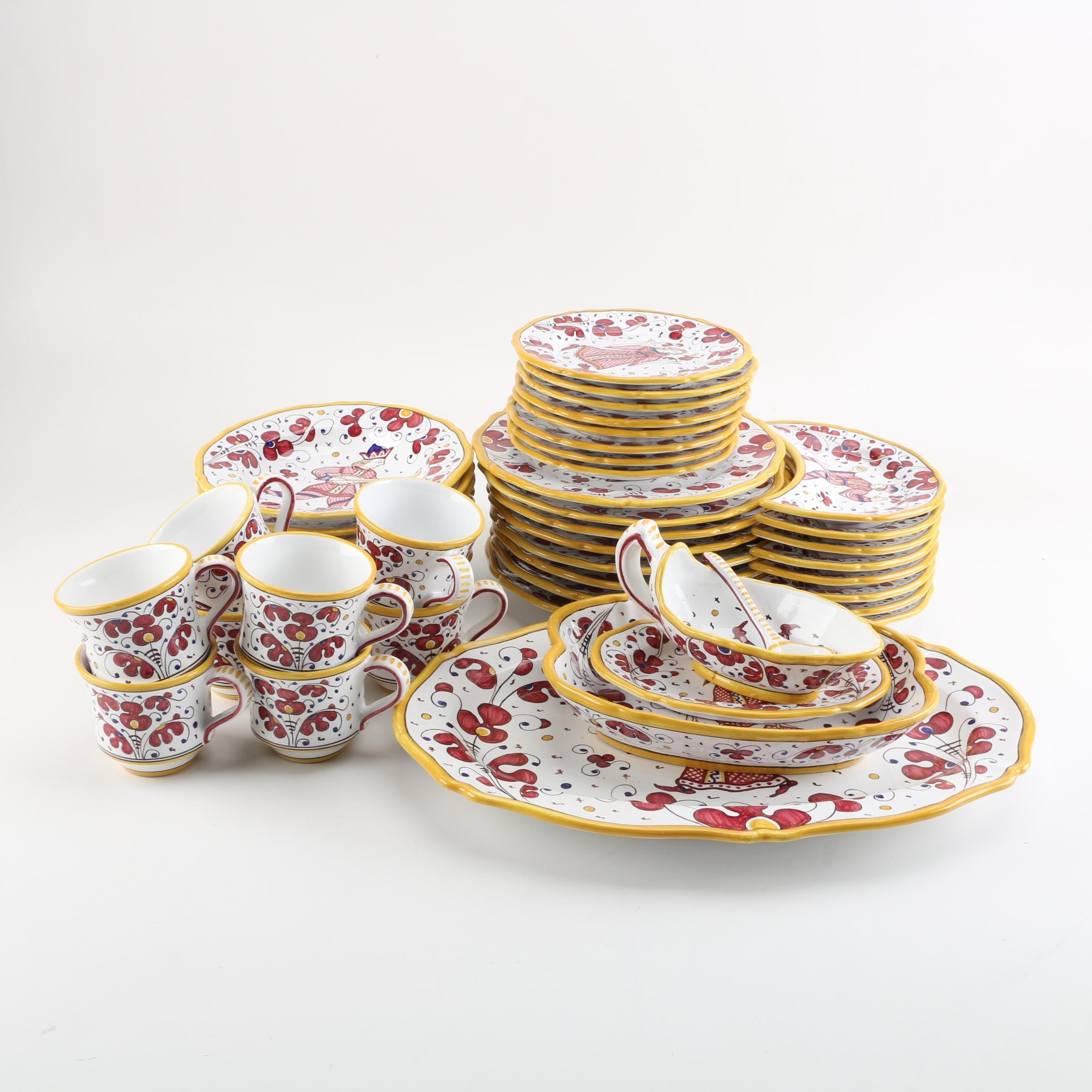Grazia Deruta Italian Faïence Tableware Set