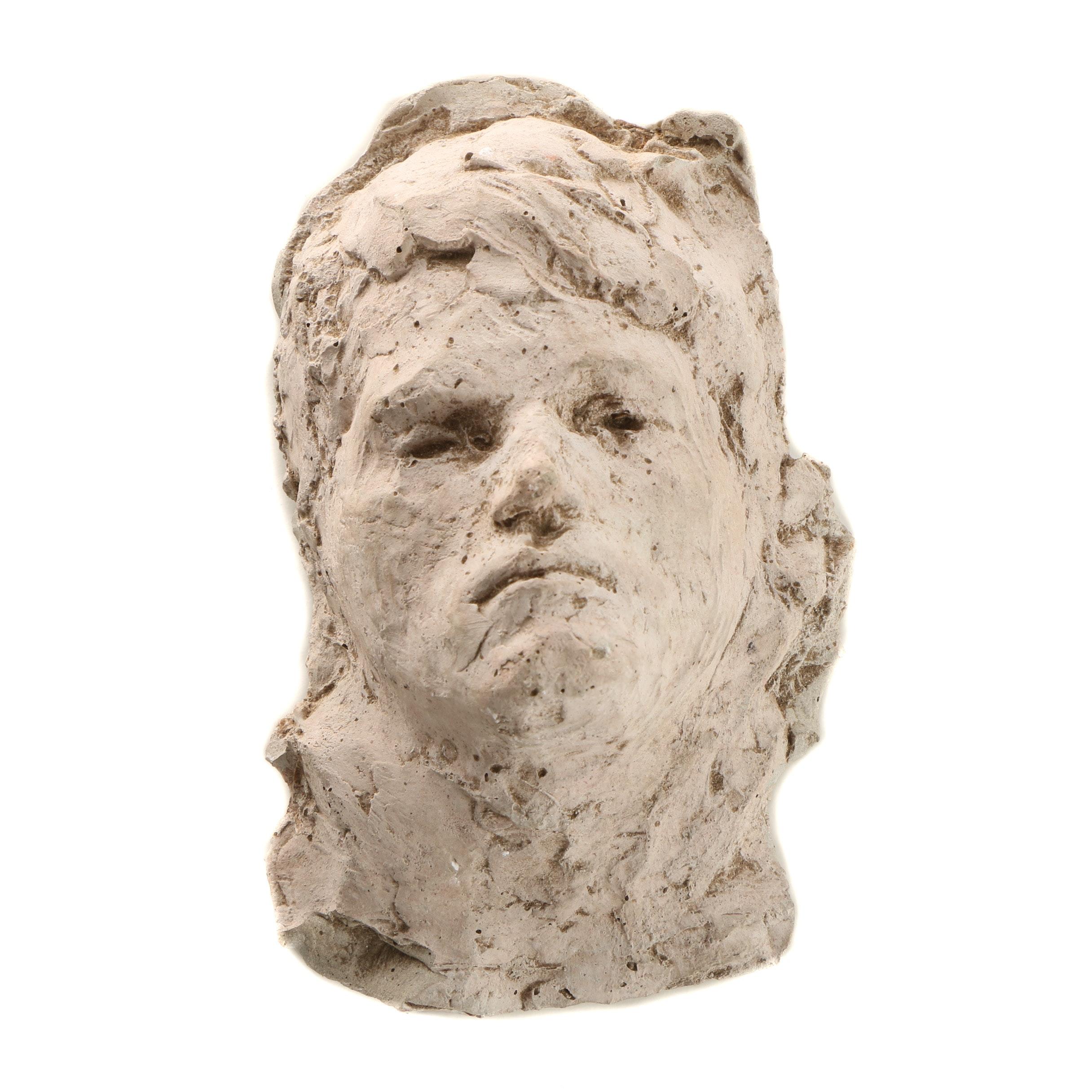 John Tuska Ceramic Cast Bas-Relief