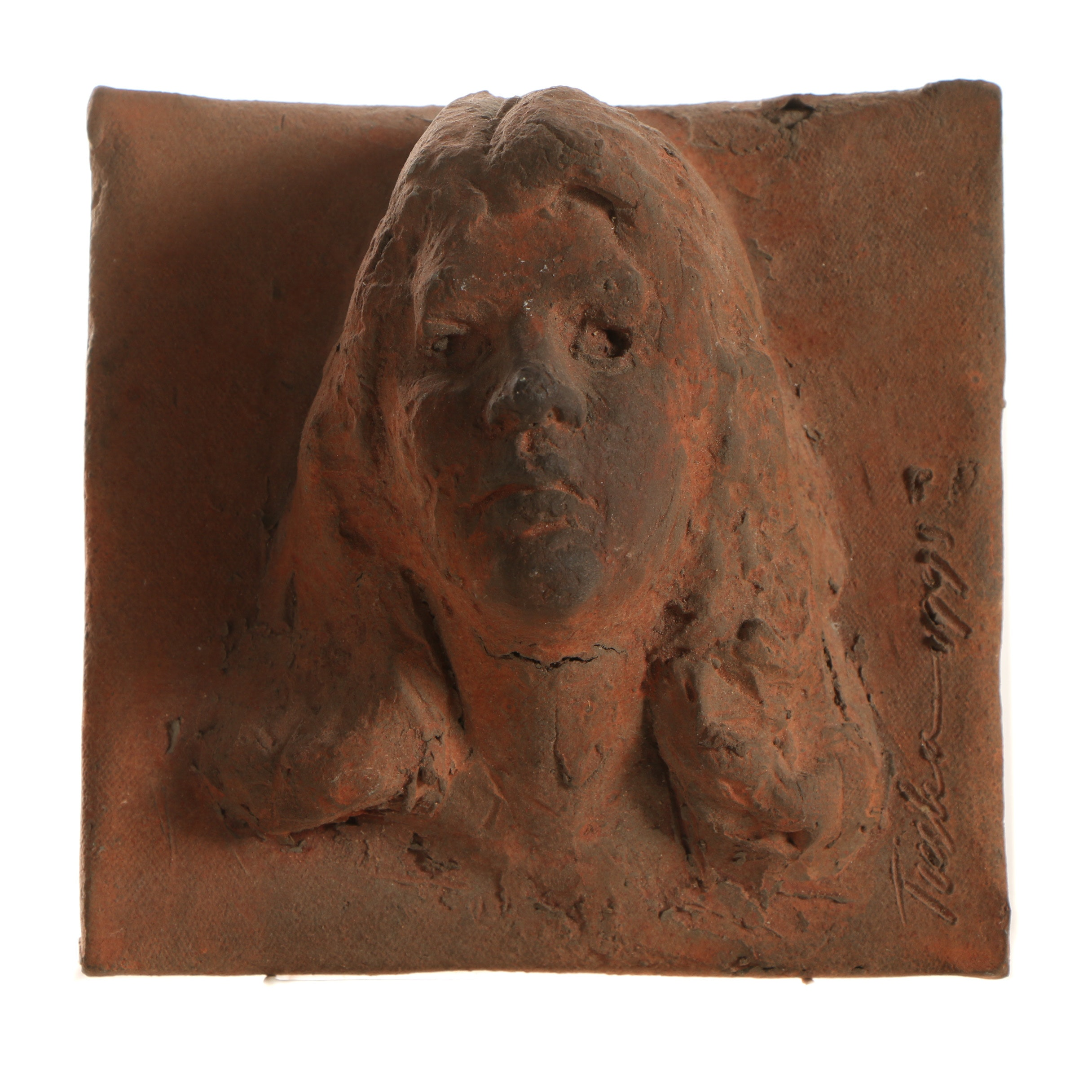 John Tuska Stoneware Bas-Relief