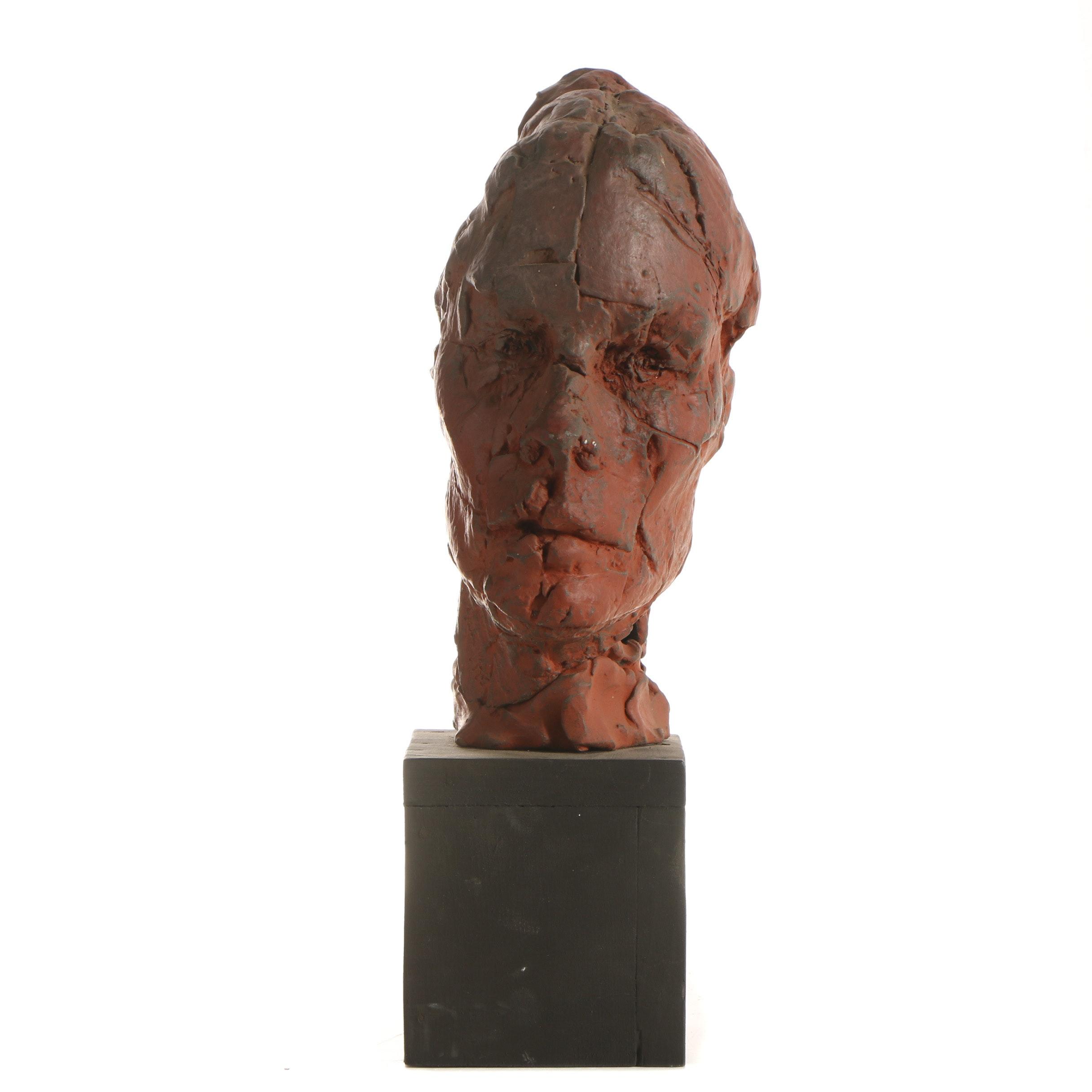John Tuska Stoneware Bust Sculpture
