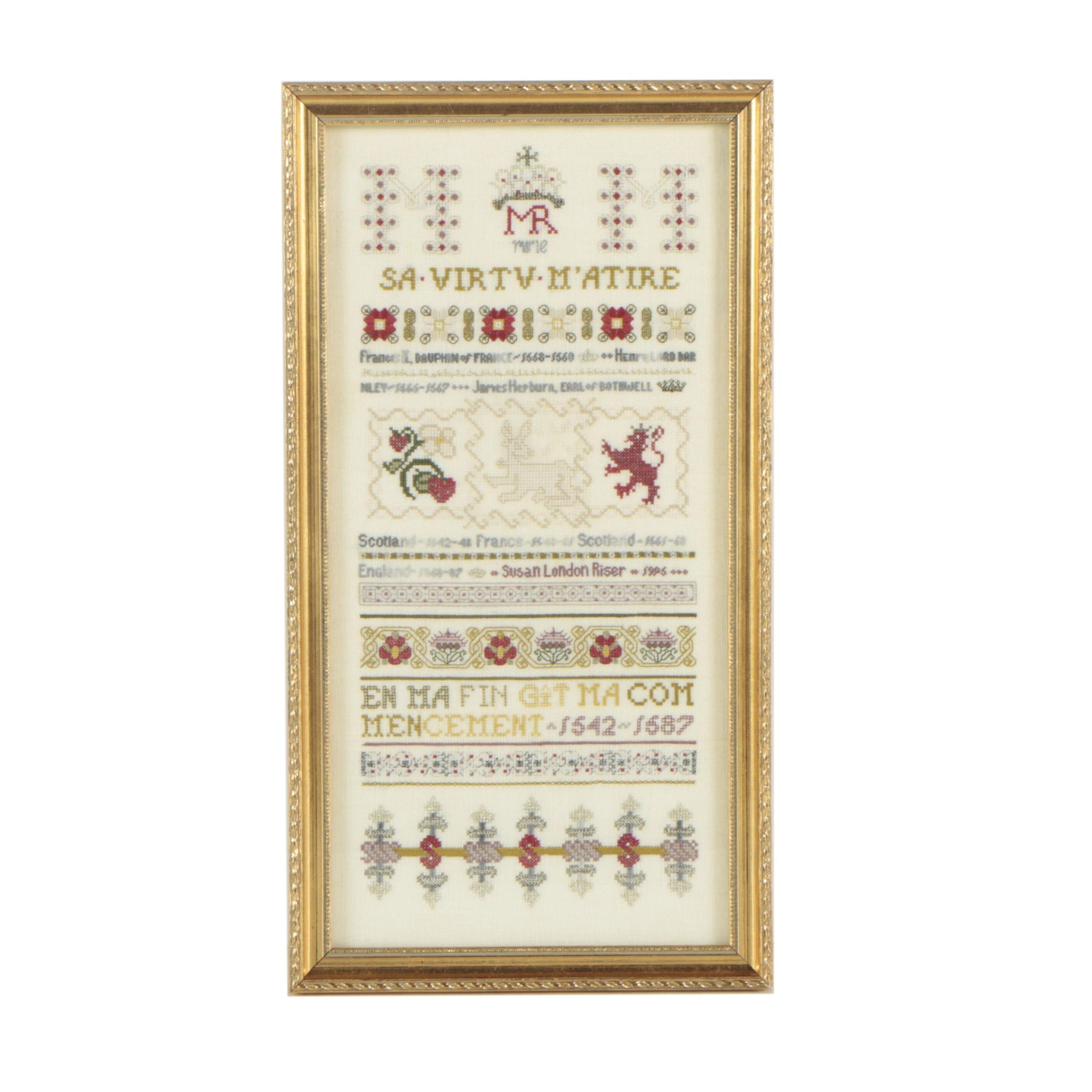 Cross-Stitch Embroidery Sampler