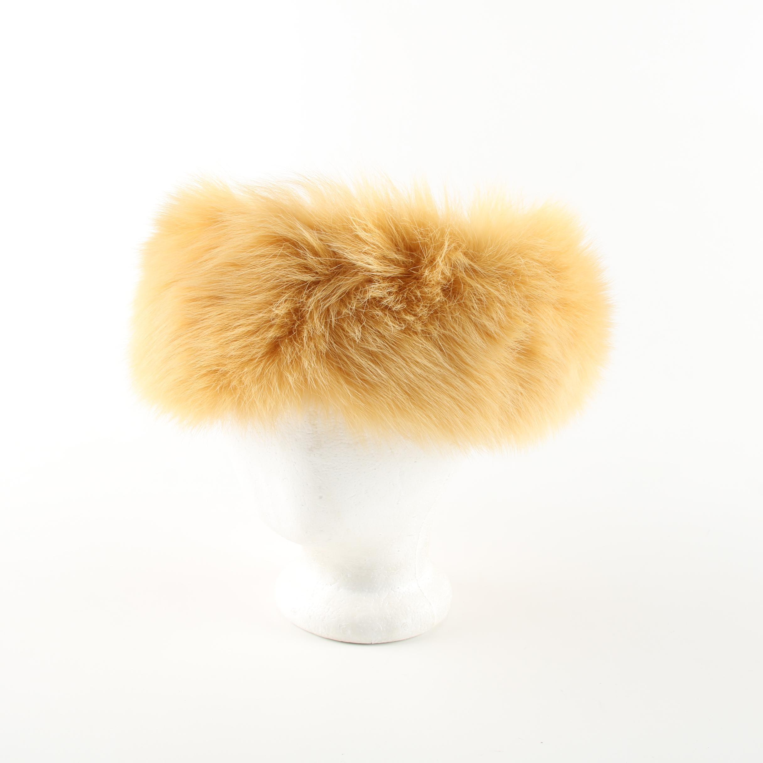 Folio Dyed Fox Fur Head Wrap