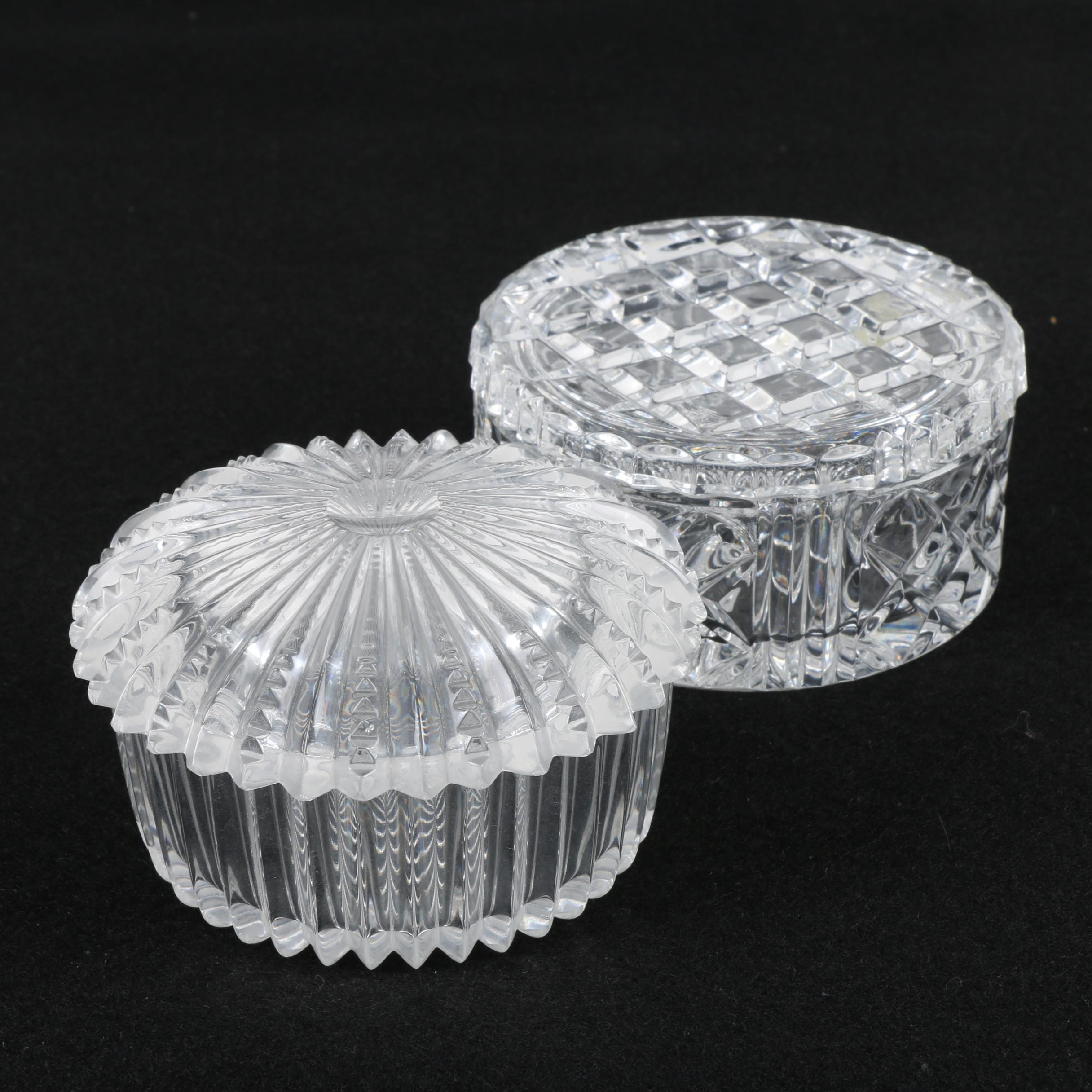 Cut Crystal and Glass Trinket Boxes