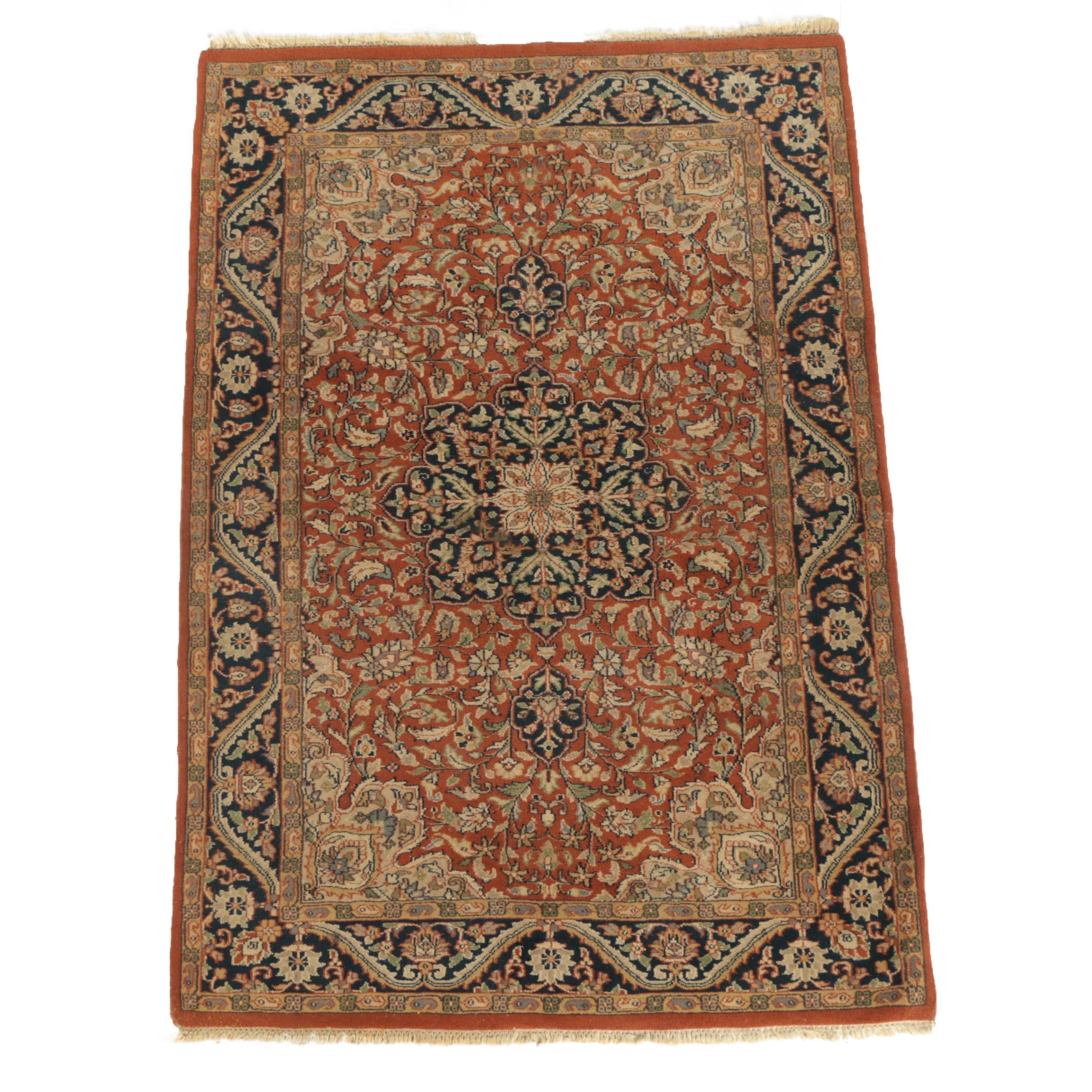 Hand-Knotted Persian Ahar Area Rug