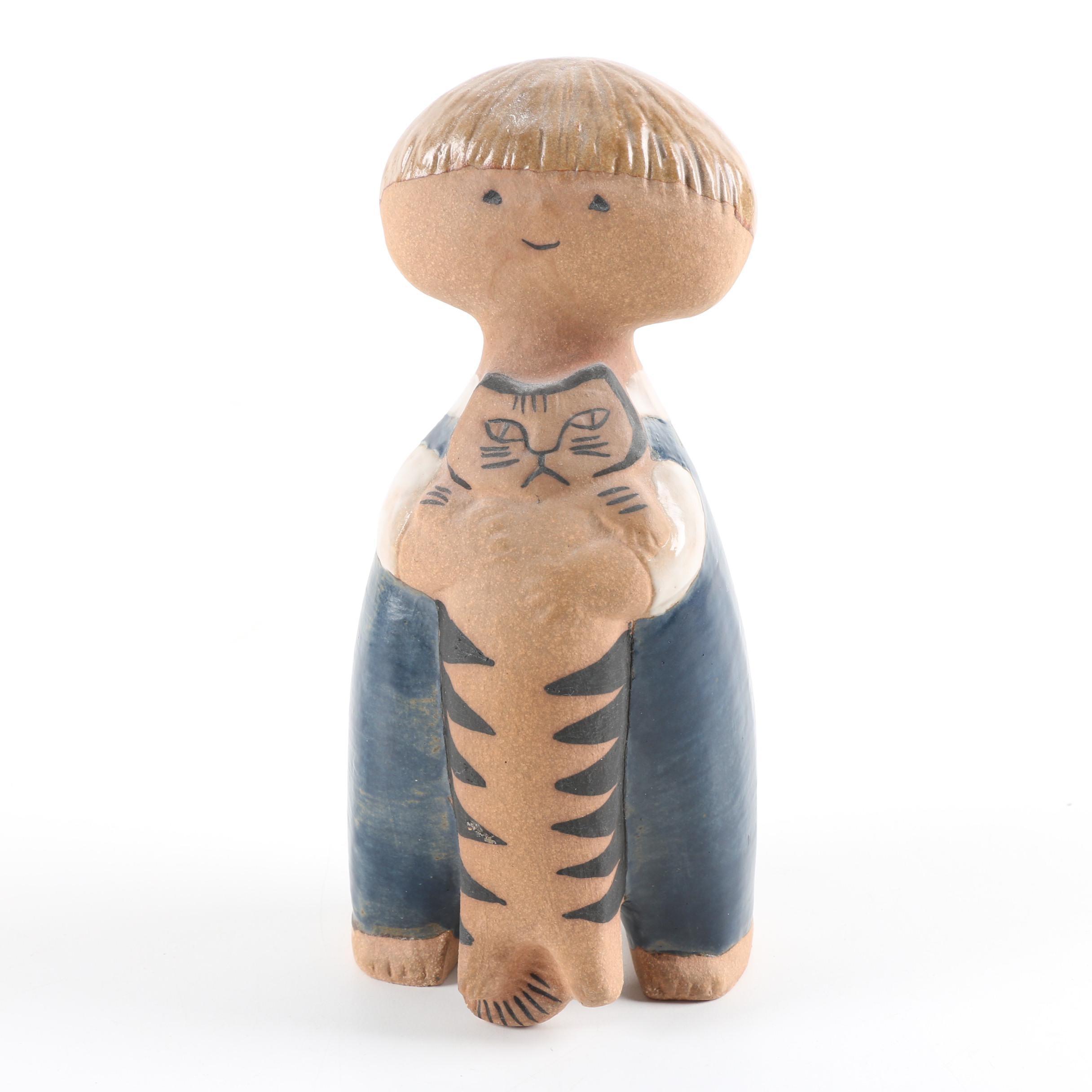 """Gustavsberg Ceramic Figurine """"Pelle""""by Lisa Larson"""