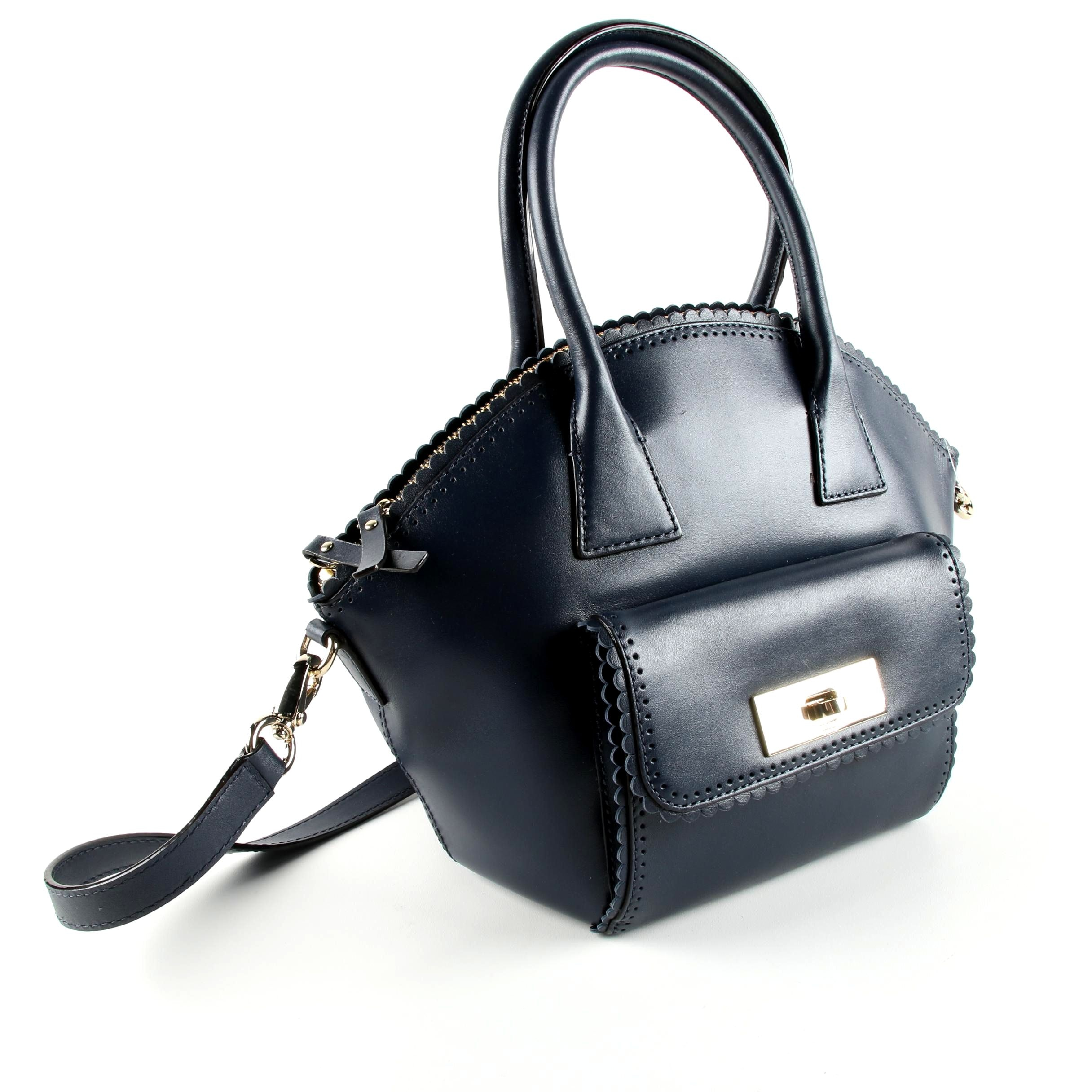 Kate Spade New York Maggie Convertible Midnight Leather Satchel
