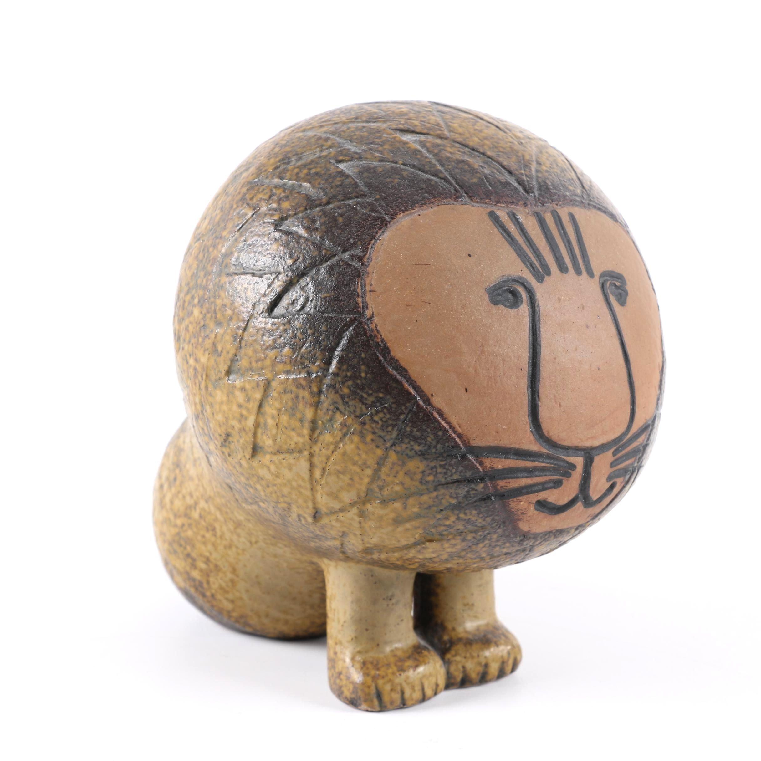 Gustavsberg Stoneware Lion Figurine