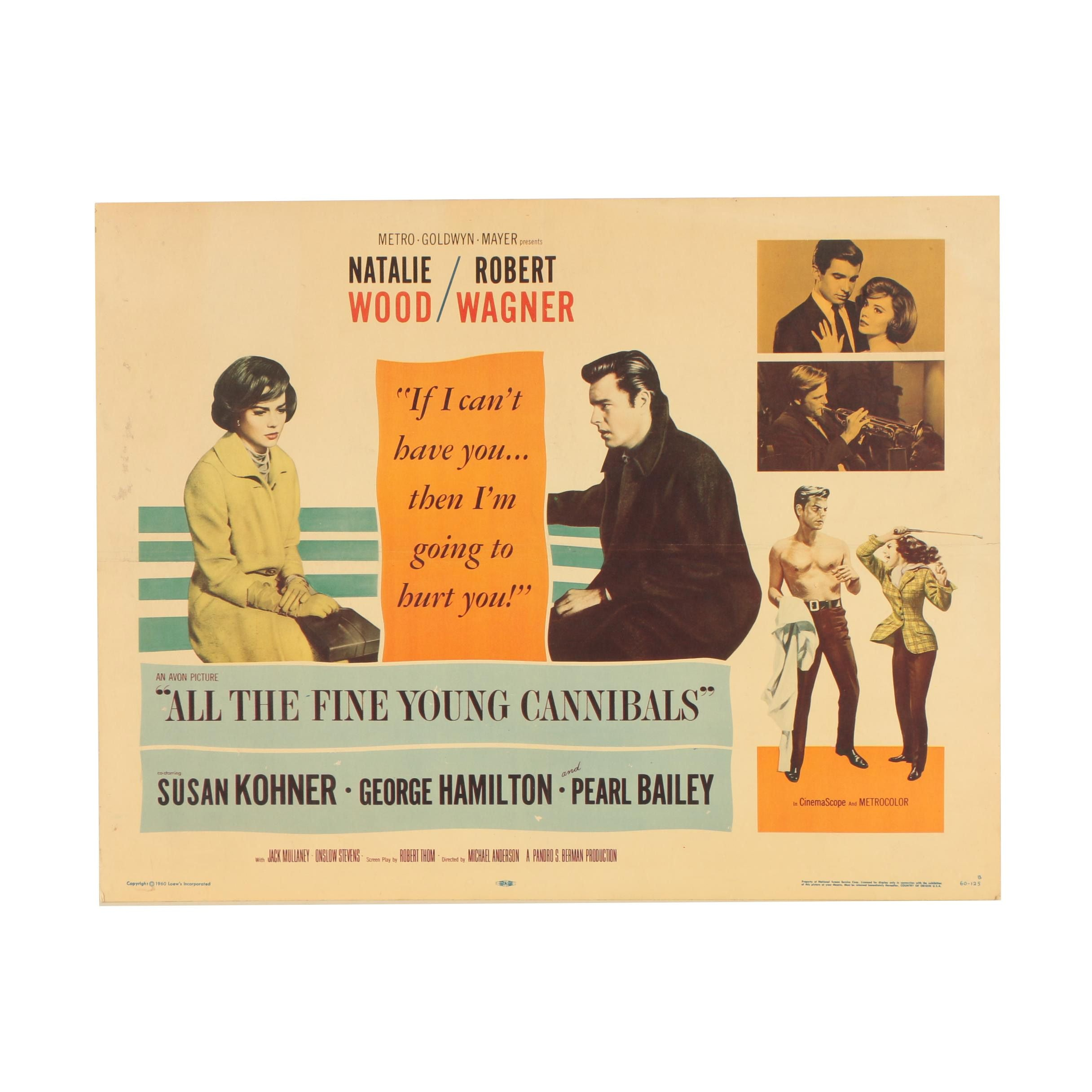 "Vintage Movie Poster ""All the Fine Young Cannibals"""