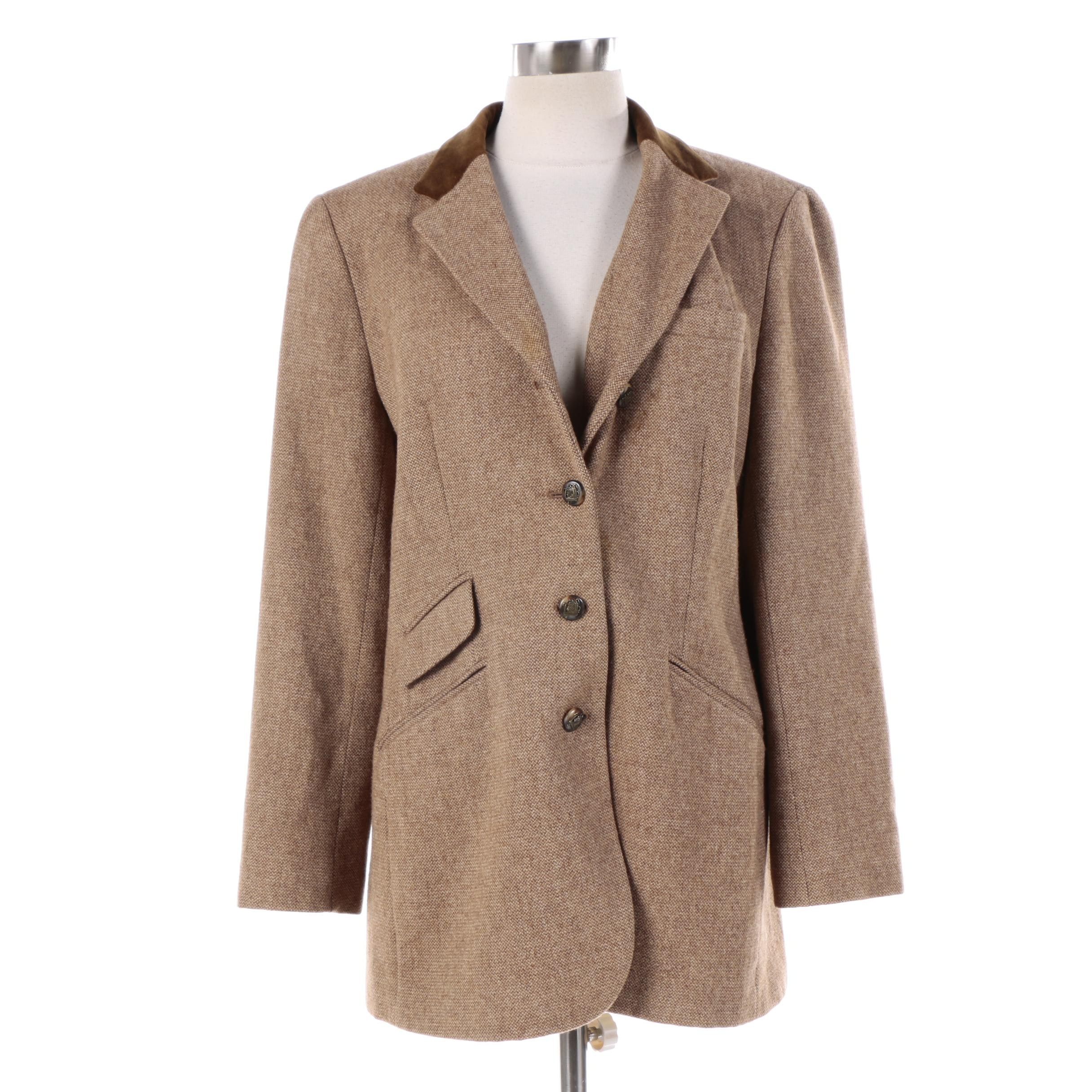 Women's Lauren Ralph Lauren Light Brown Lambswool Sport Coat