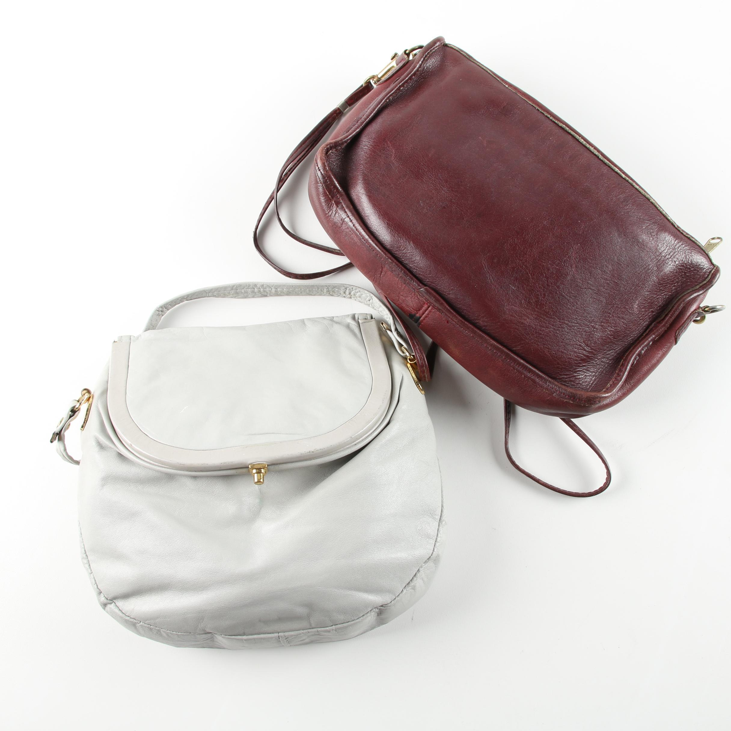 Vintage Leather Handbags Including Letisse