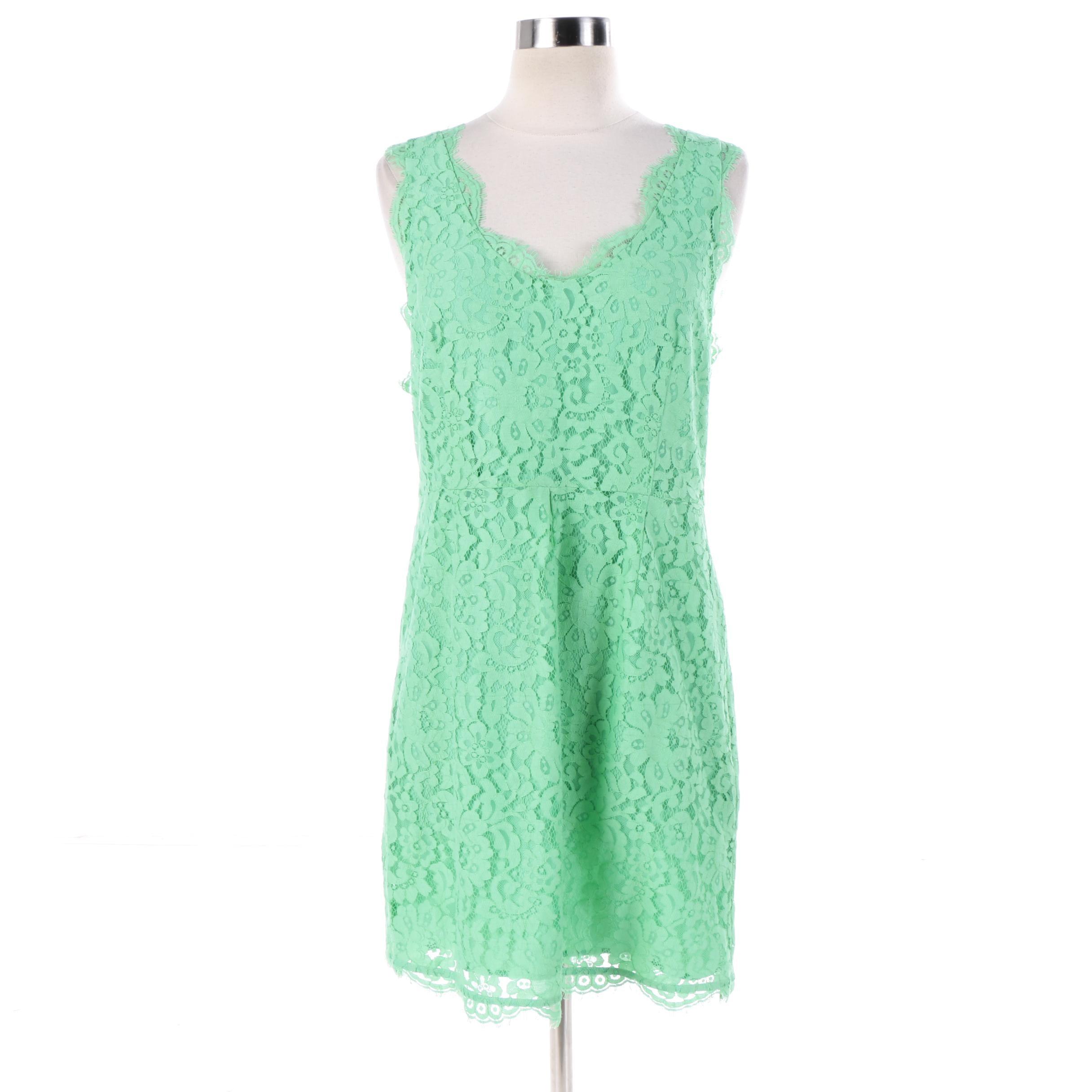 Joie Lace Mint Green Sleeveless Dress