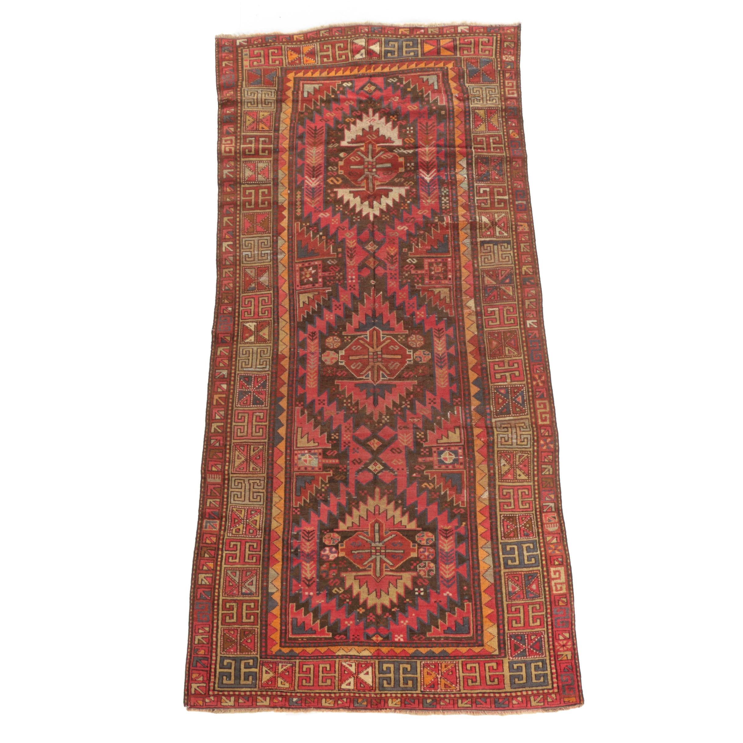 Handwoven Caucasian Kazak Wool Area Rug