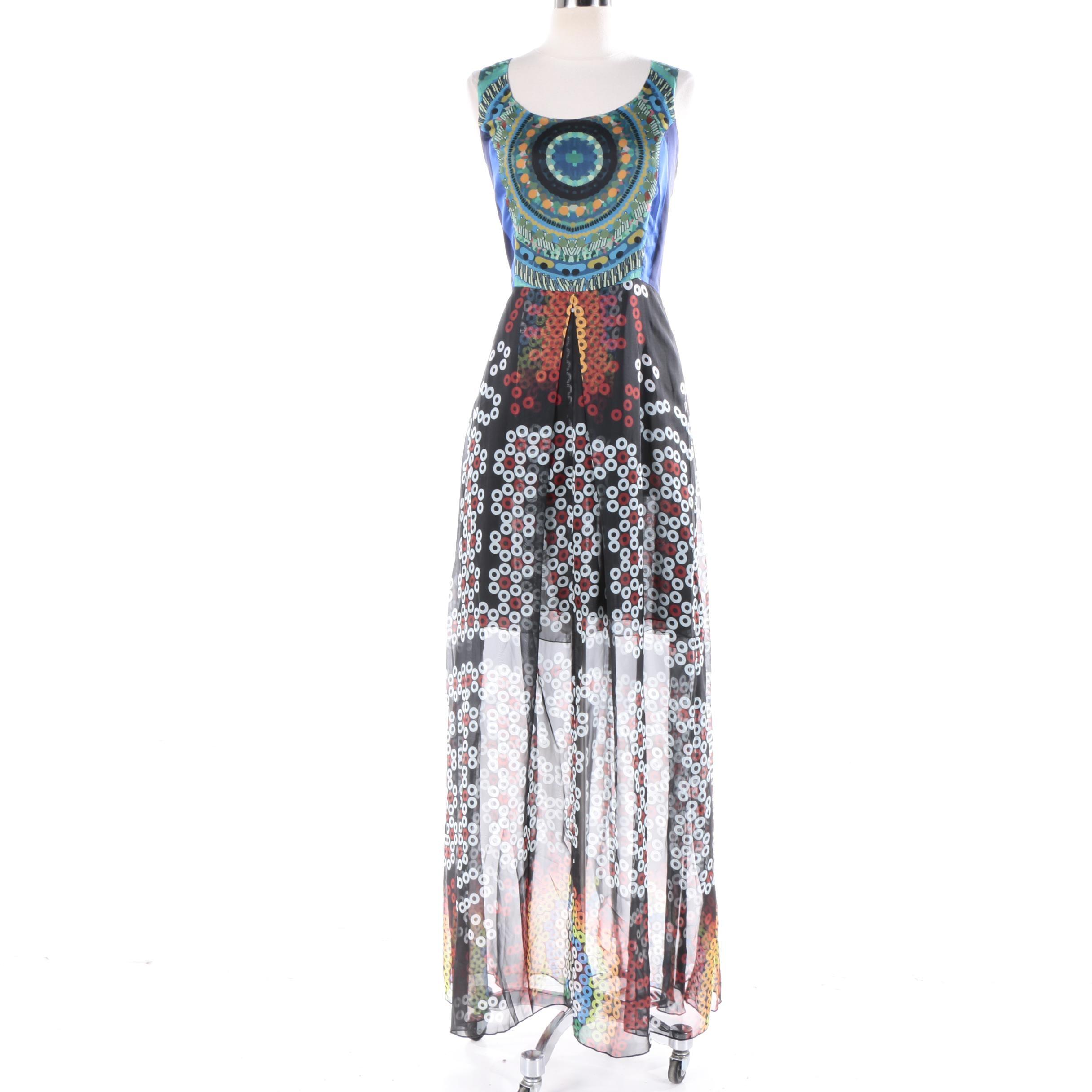 Desigual Multicolored Sleeveless Maxi Dress