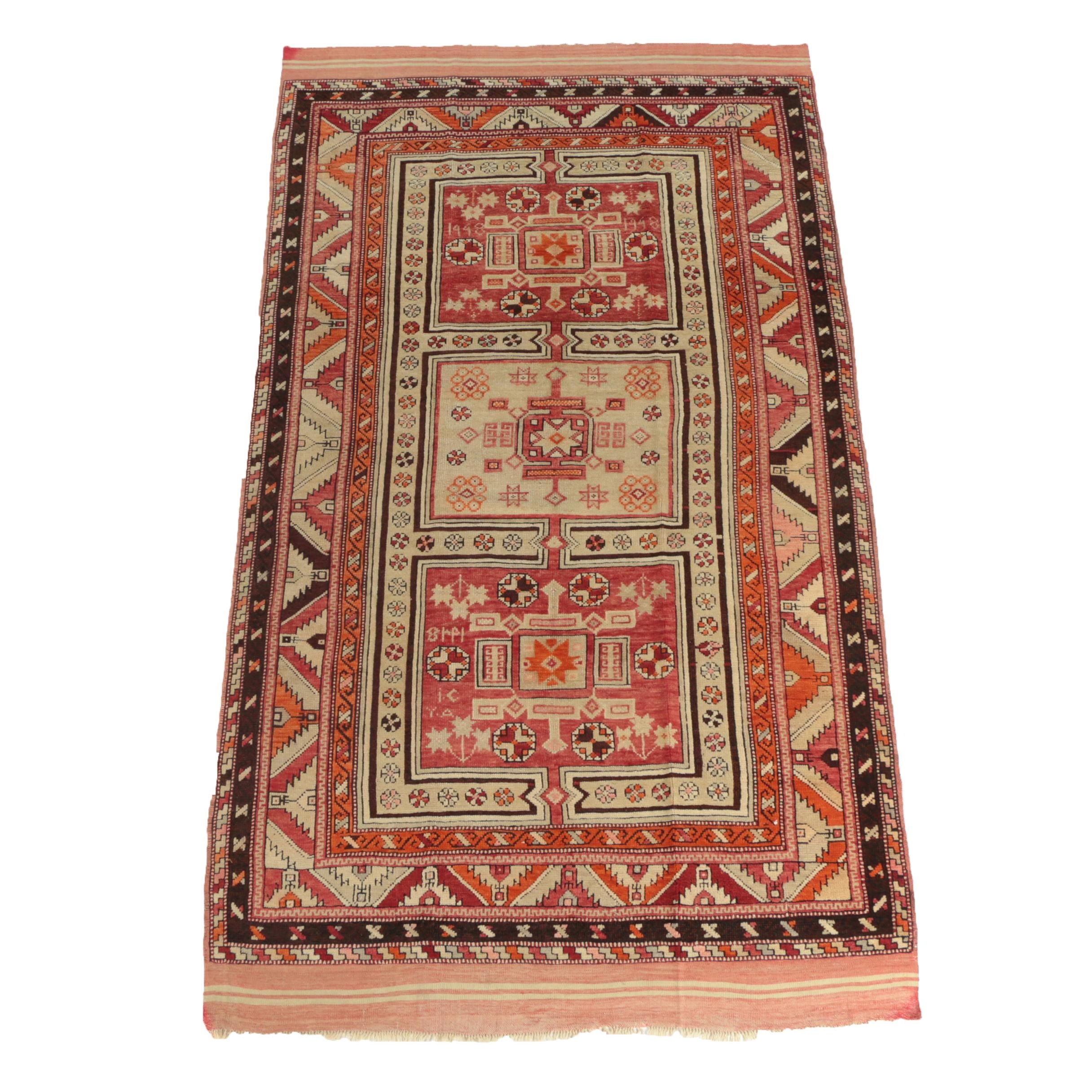 Hand-Knotted Armenian Caucasian Area Rug