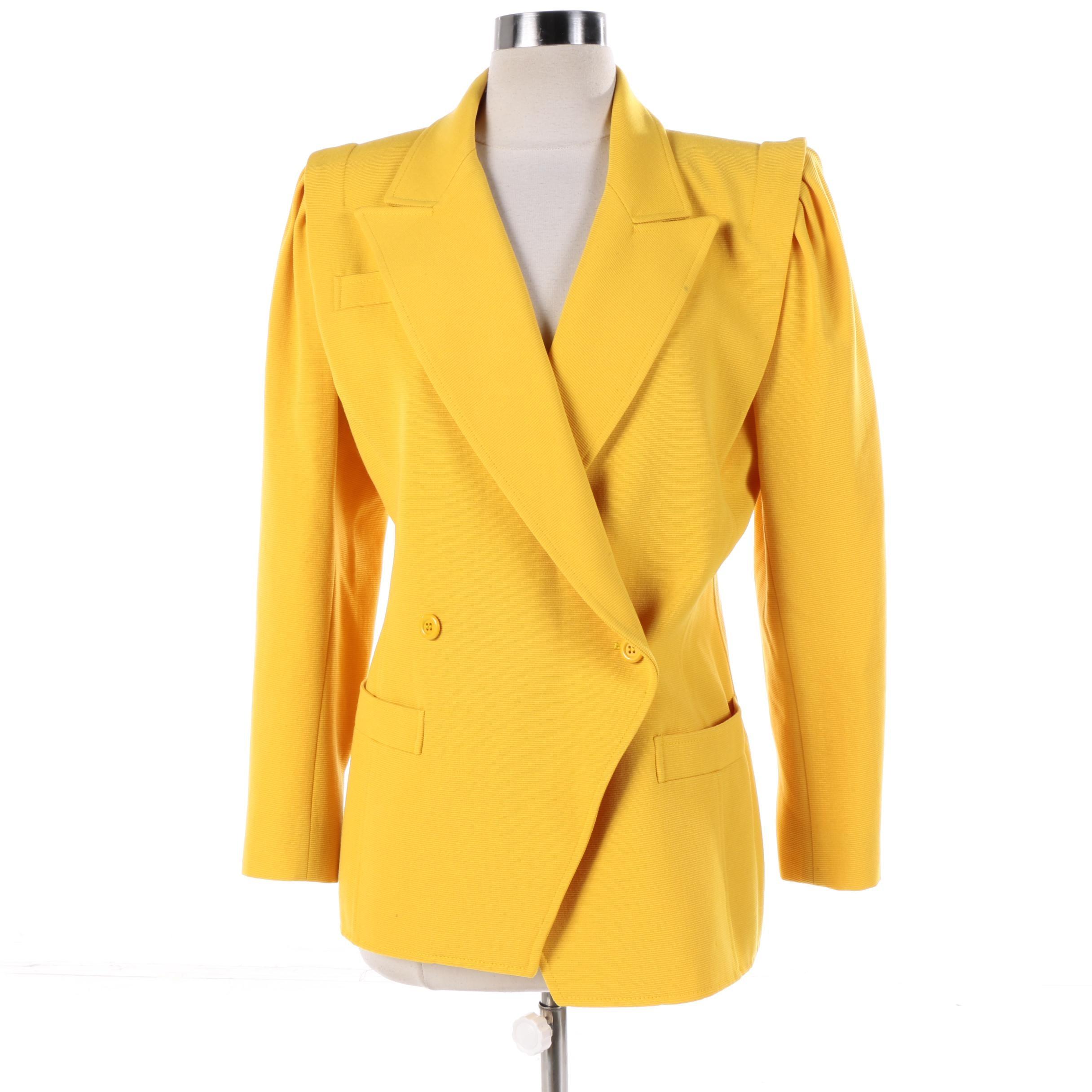 Women's Ungaro Parallele of Paris Yellow Blazer