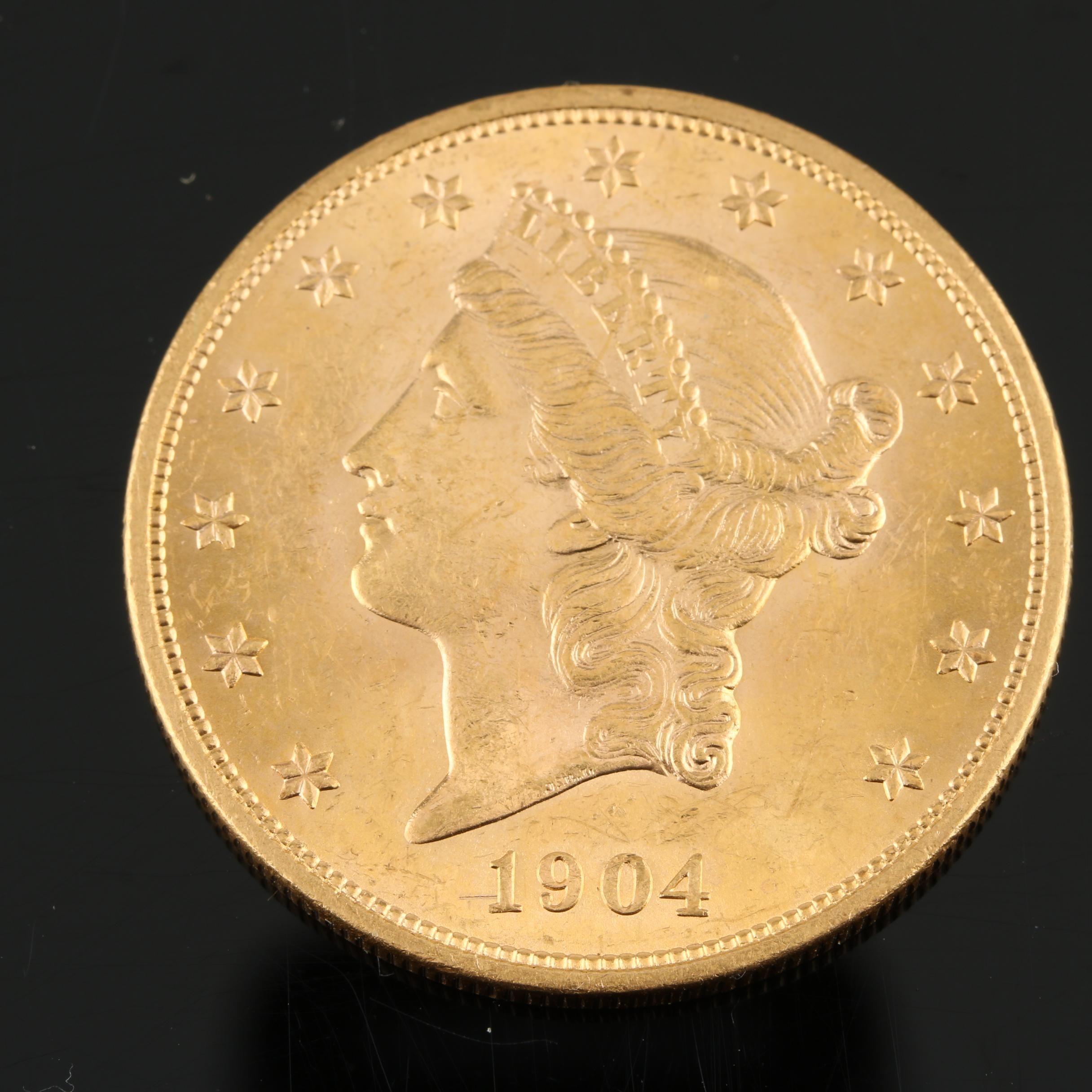 1904 Liberty Head $20 Gold Double Eagle