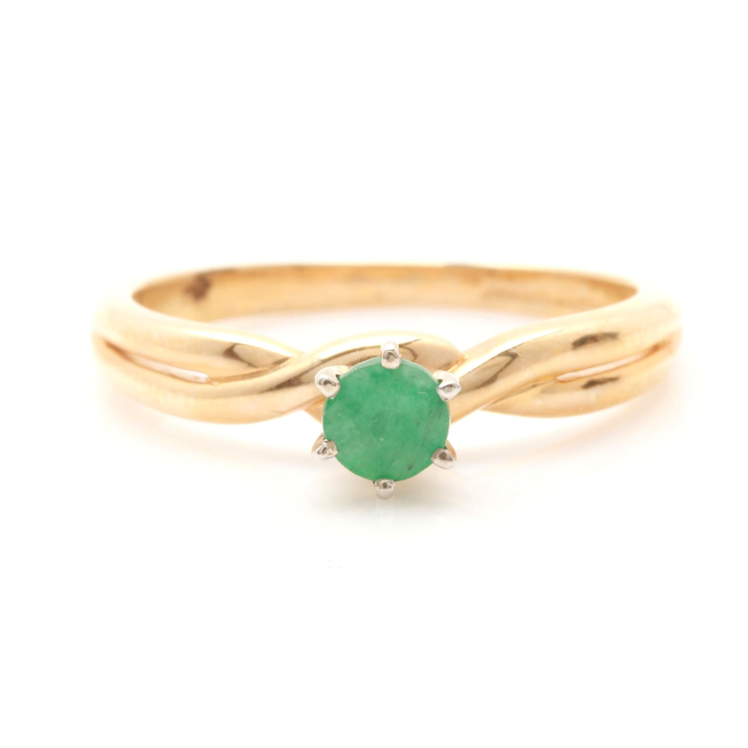 Artcarved 14K Yellow Gold Emerald Ring