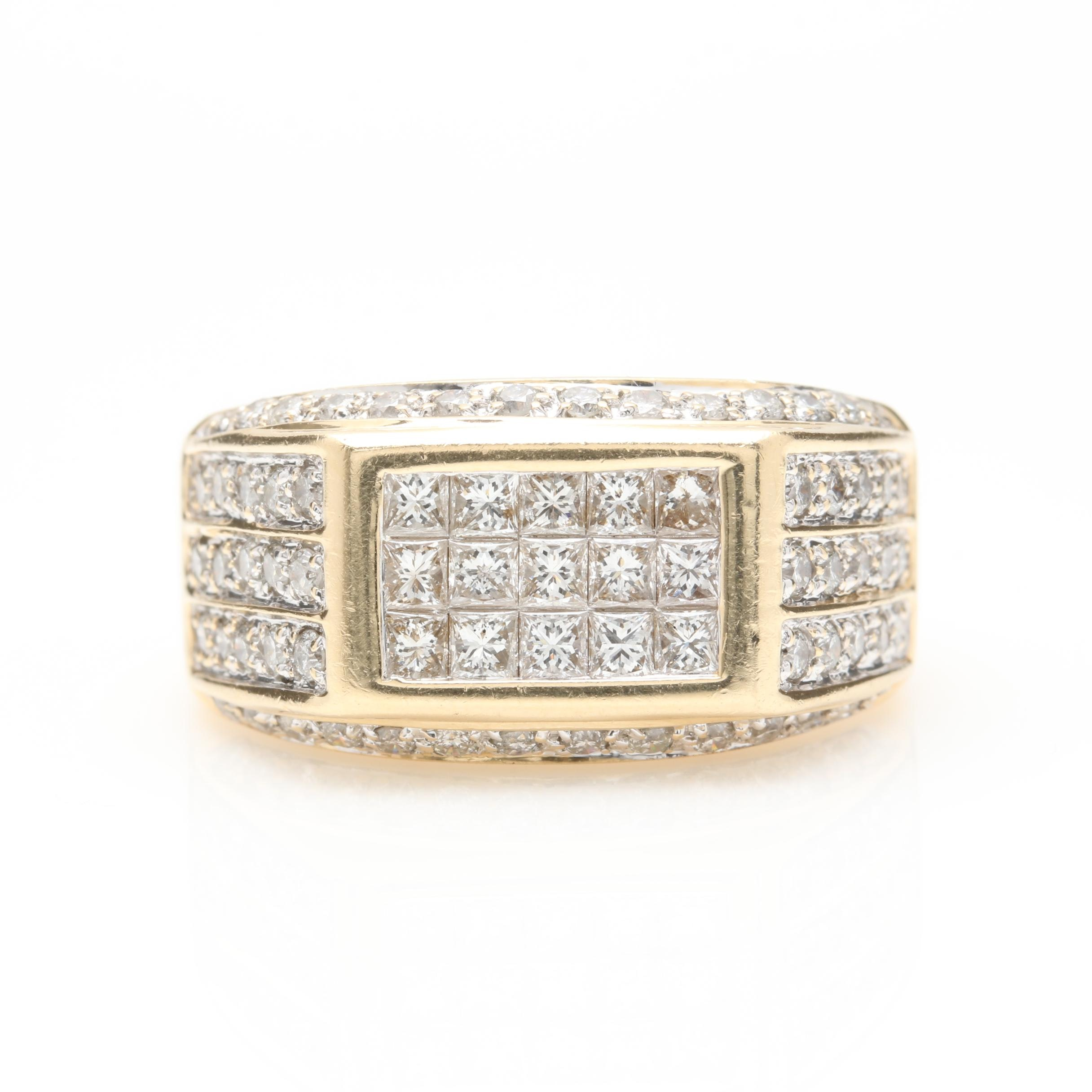 14K Yellow Gold 2.00 CTW Diamond Ring