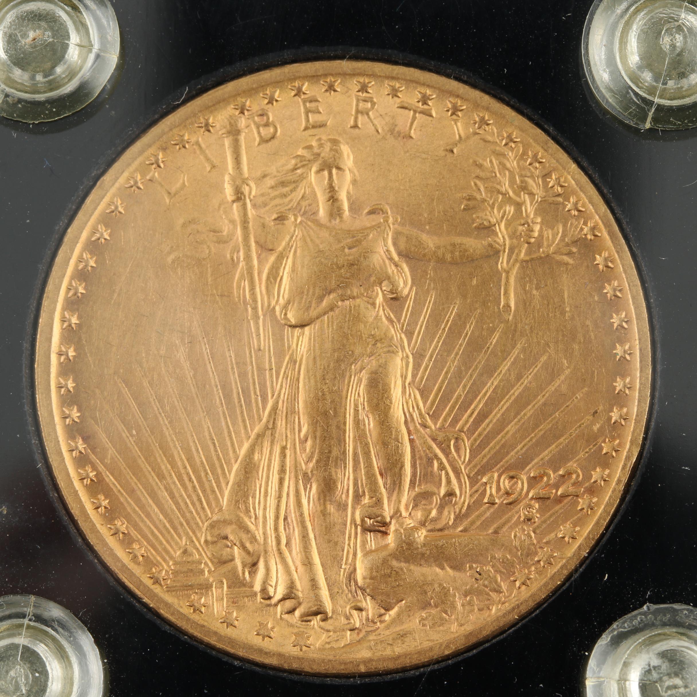 1922 Saint-Gaudens $20 Gold Double Eagle