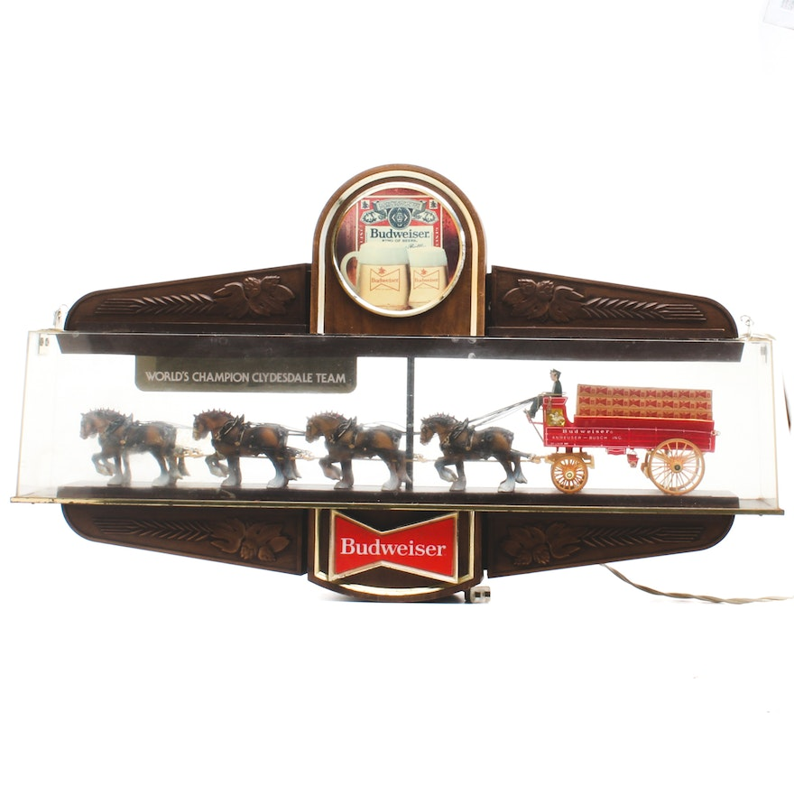 Budweiser Pool Table Light EBTH - Budweiser clydesdale pool table light