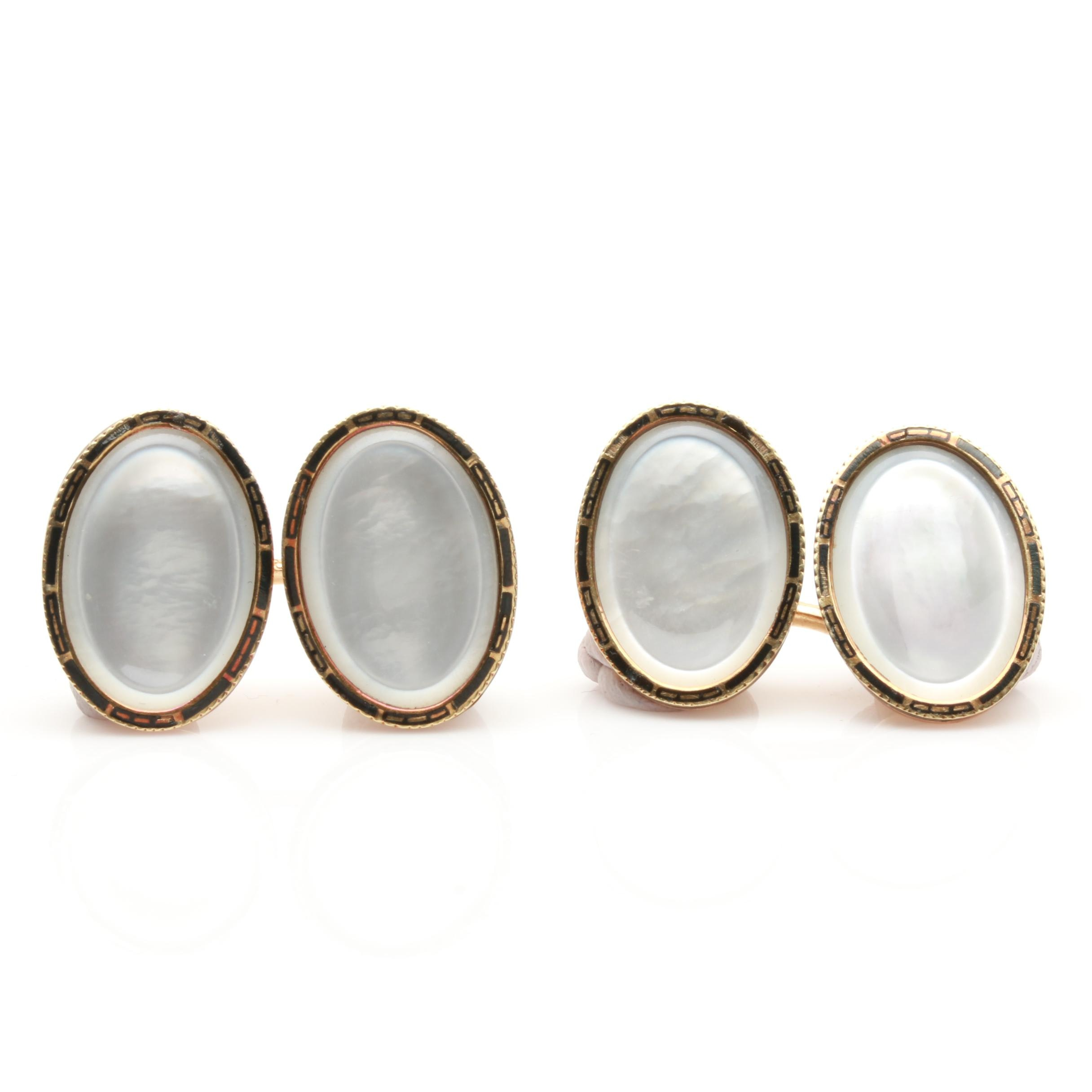 1920s Larter & Sons Mother of Pearl Cufflinks