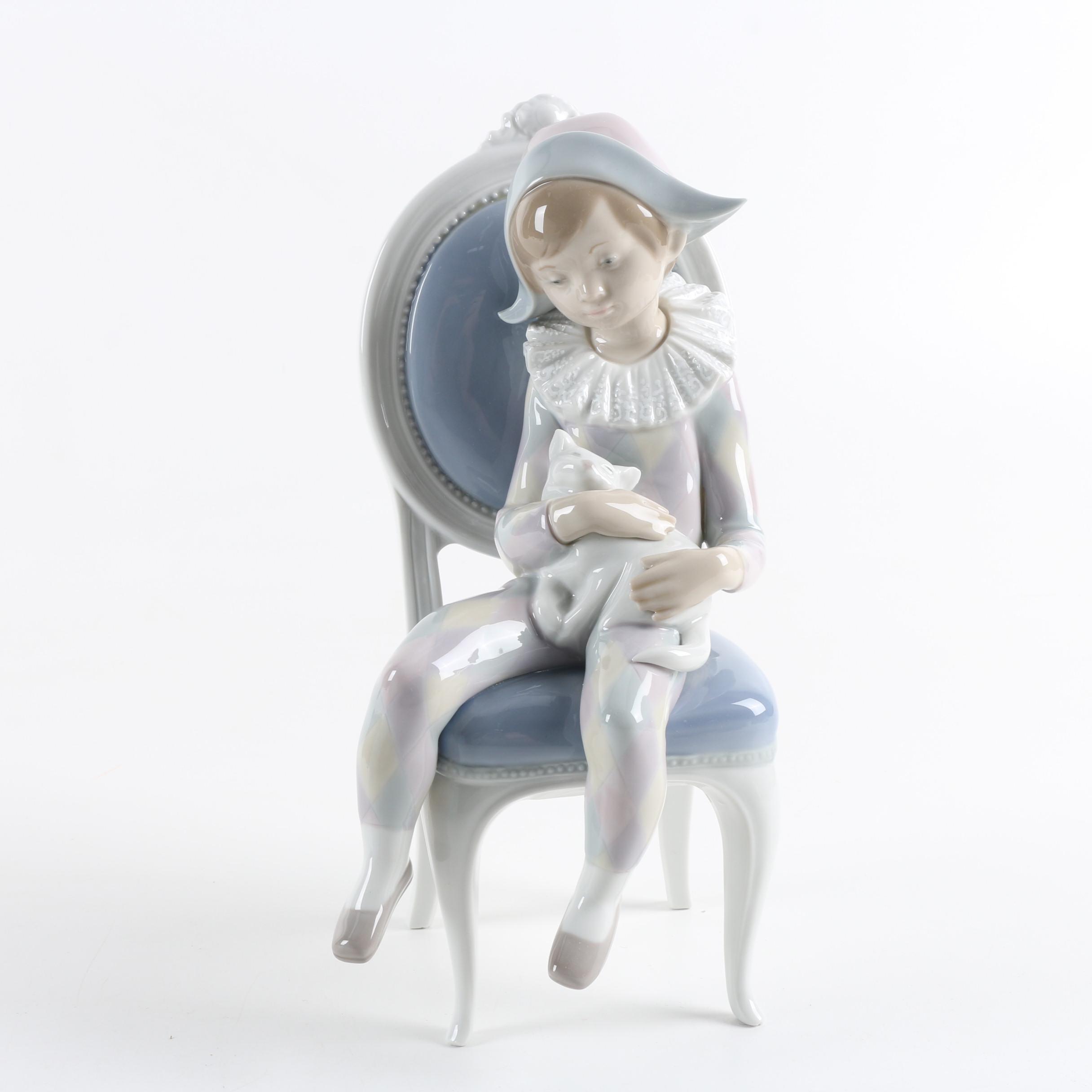"Lladró ""Harlequin Boy"" Figurine"