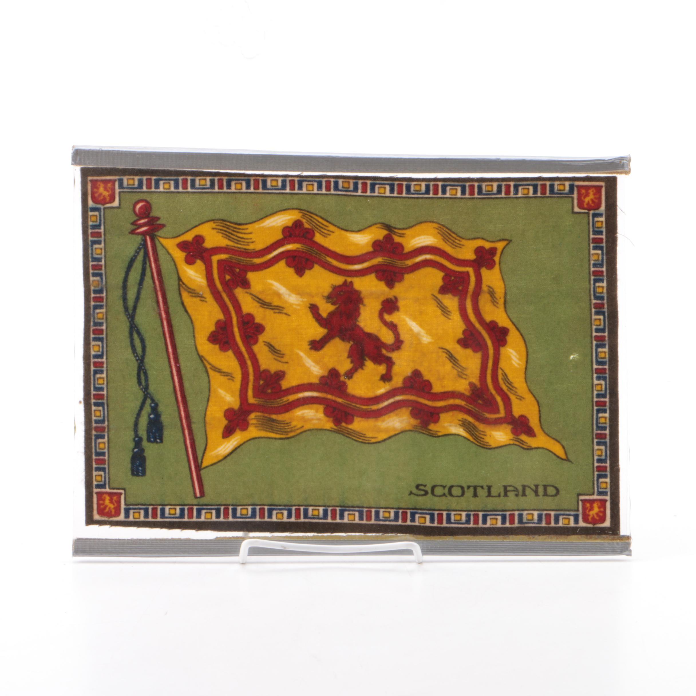 Scottish Lion Rampant Royal Banner on Fabric Backing