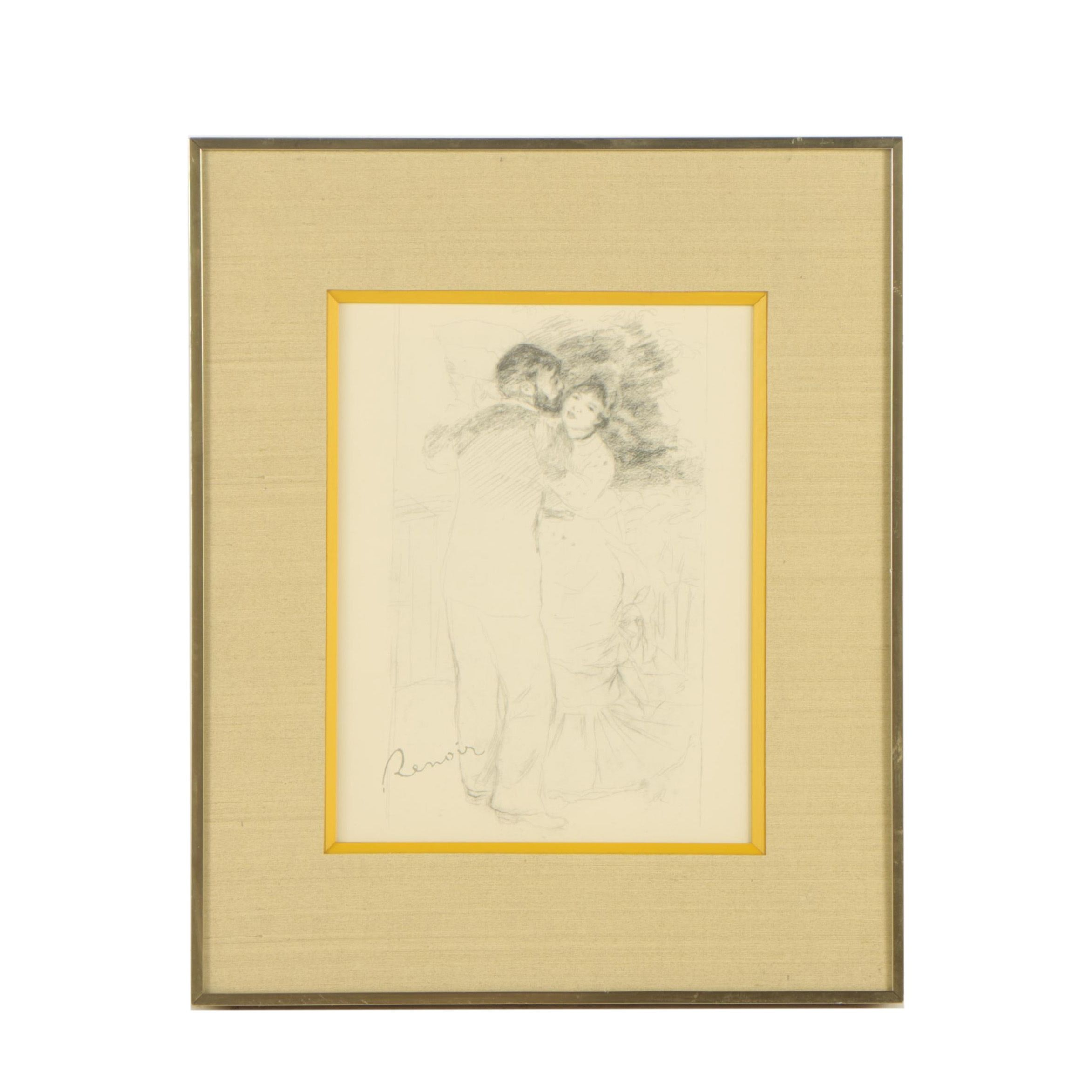 "Reproduction Print After Pierre-Auguste Renoir ""Study for Dance in the Country"""