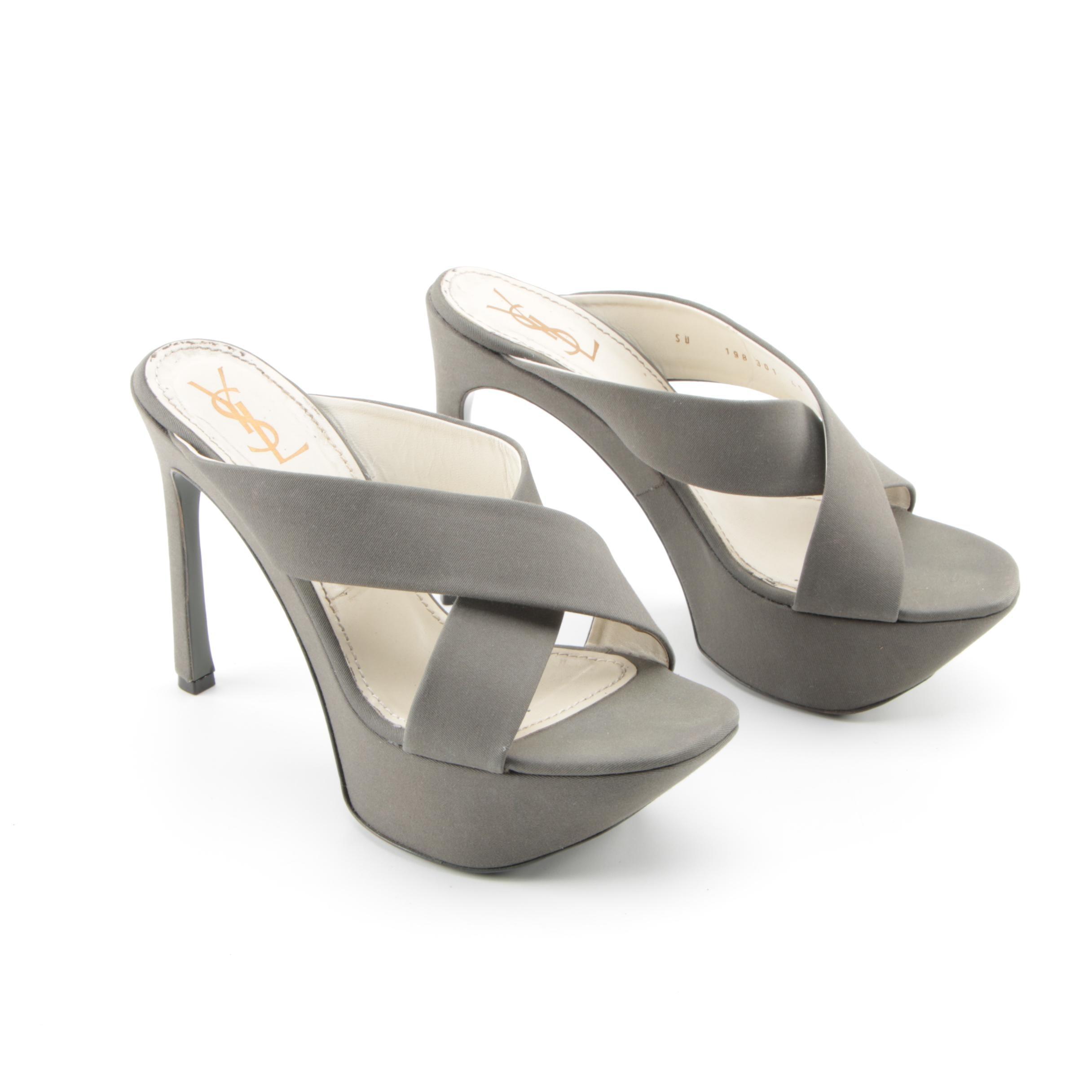 Yves Saint Laurent Suede Platform Heels