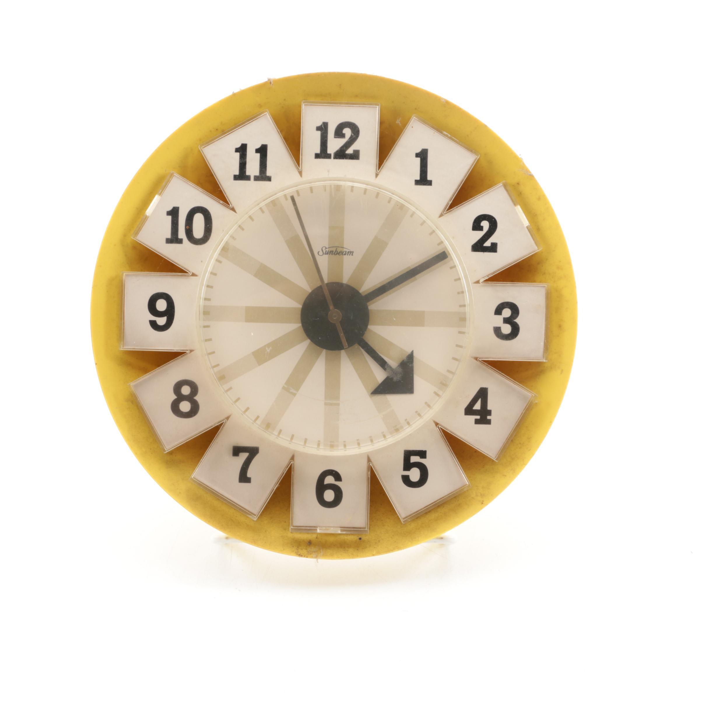 Vintage Sunbeam Kitchen Wall Clock