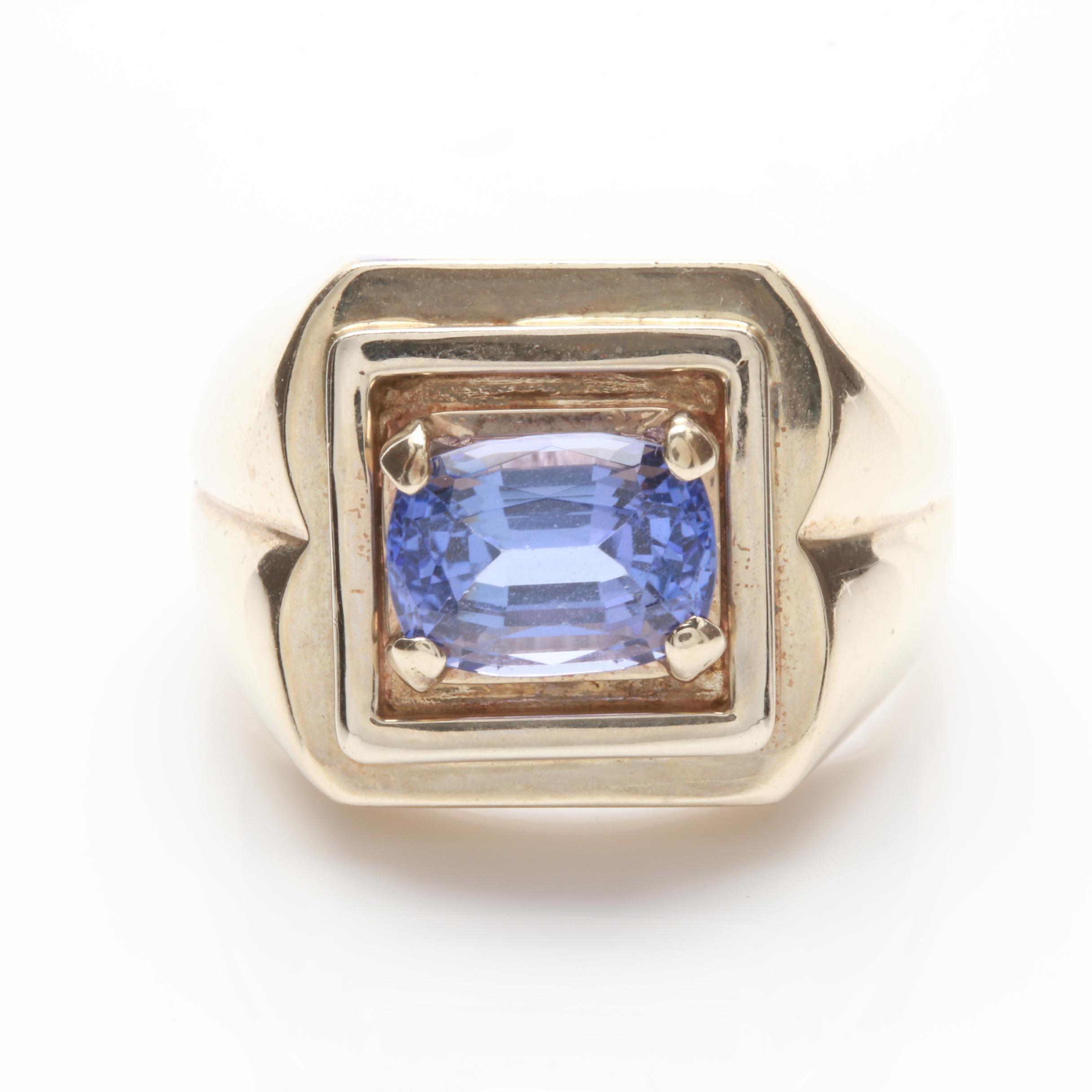 14K Yellow Gold 3.64 CT Tanzanite Ring
