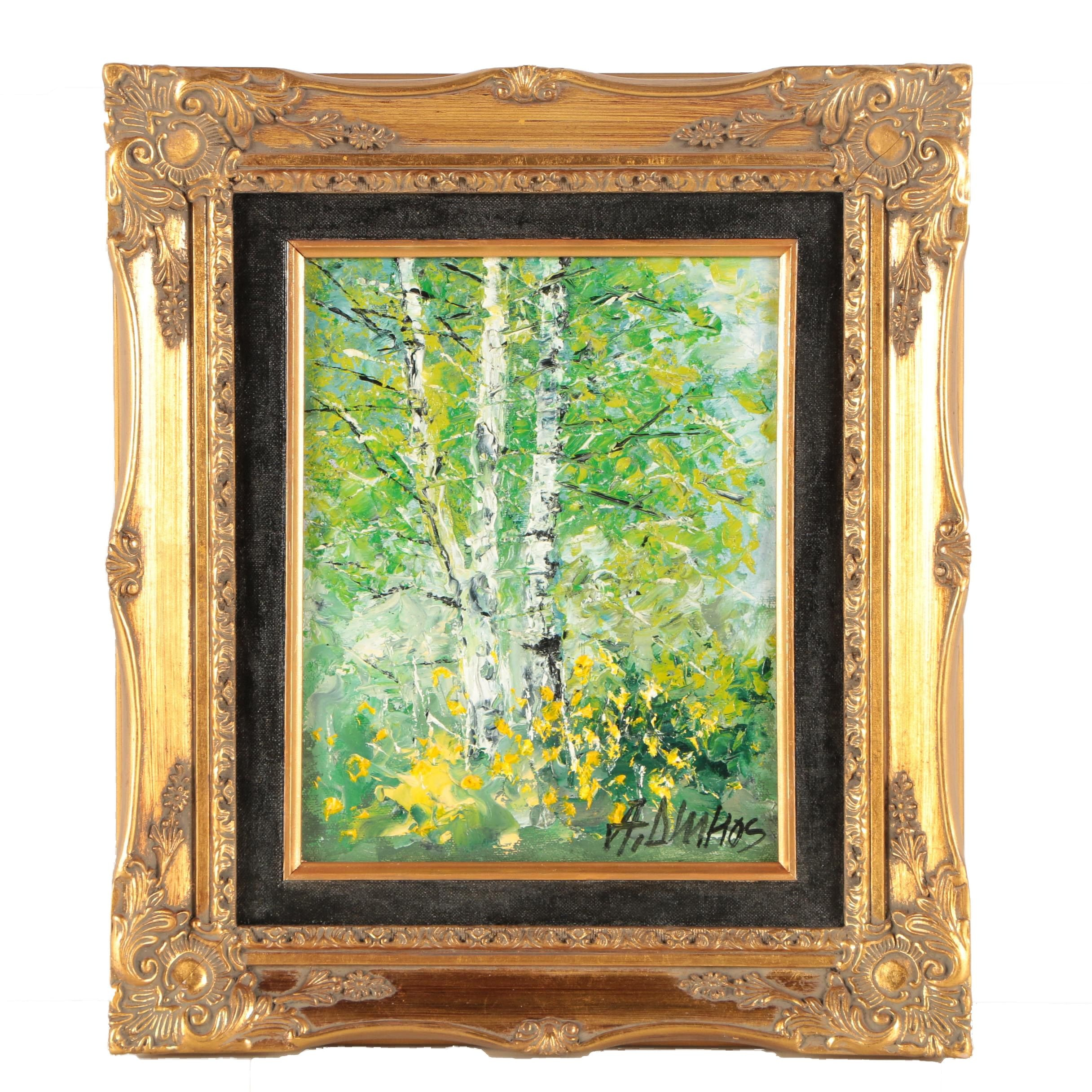 """Andre Dluhos Oil Painting """"Recollections of Spring"""""""