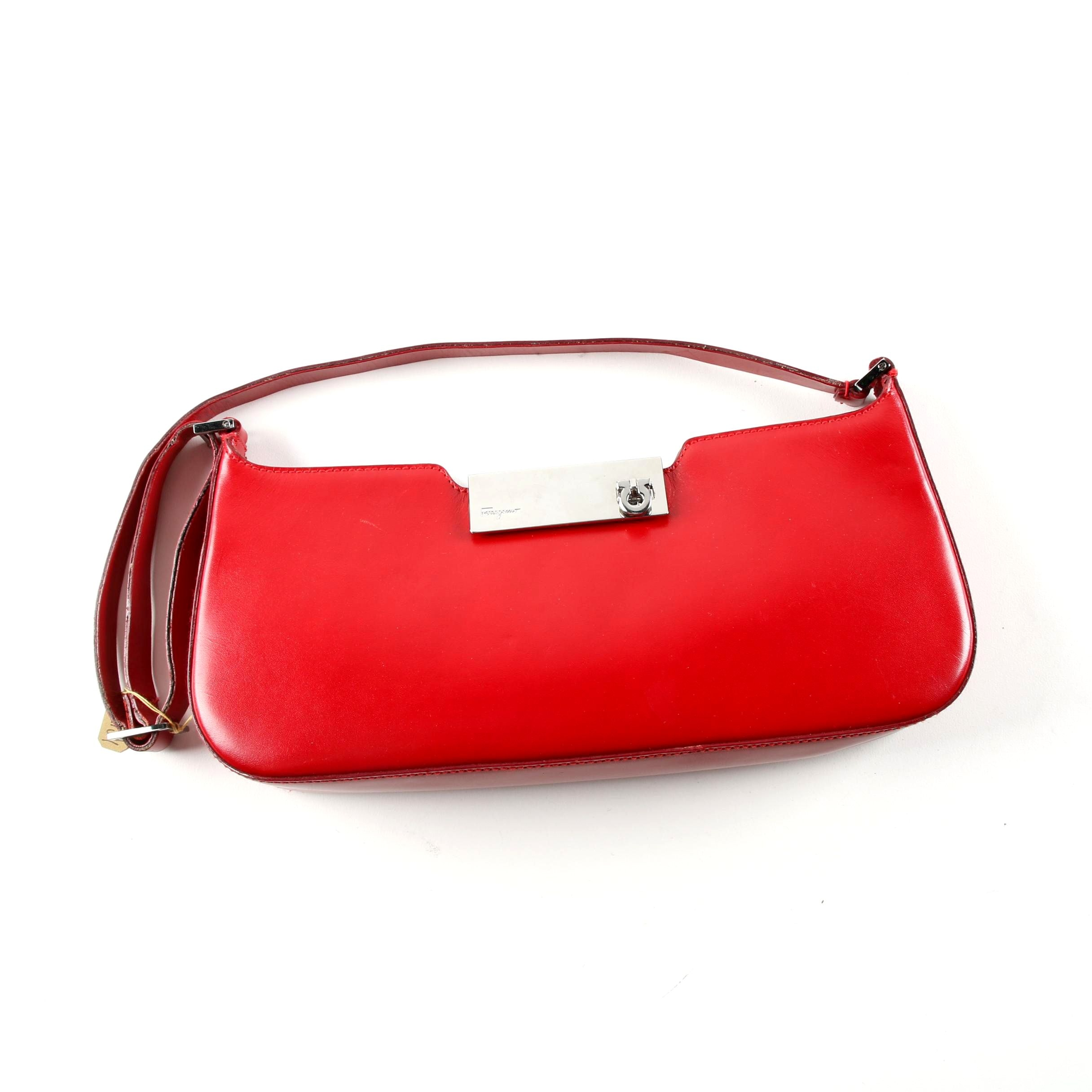 Salvatore Ferragamo Red Leather Handbag
