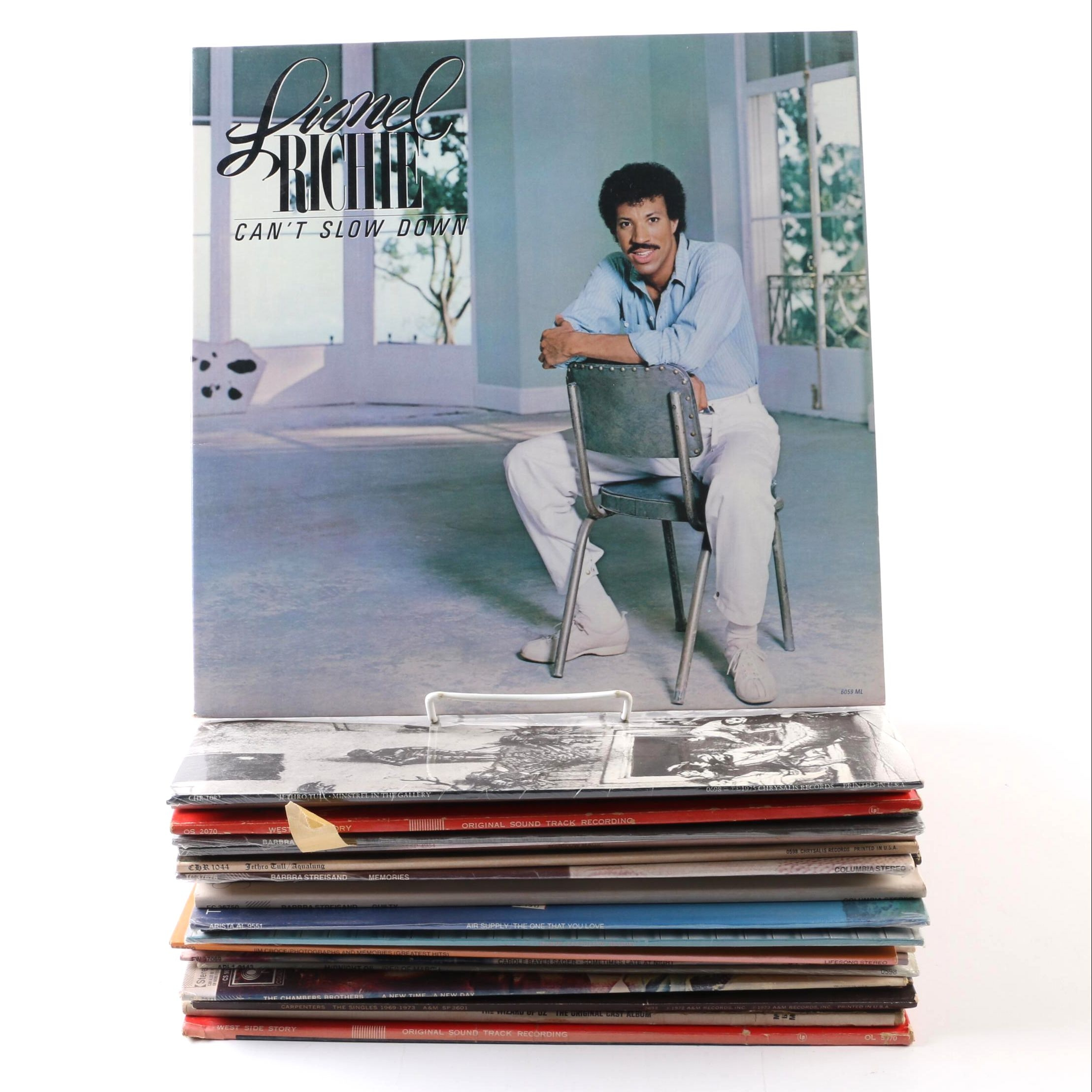 Vintage Records including Lionel Richie, Barbra Streisand, Jim Croce, Bee Gees