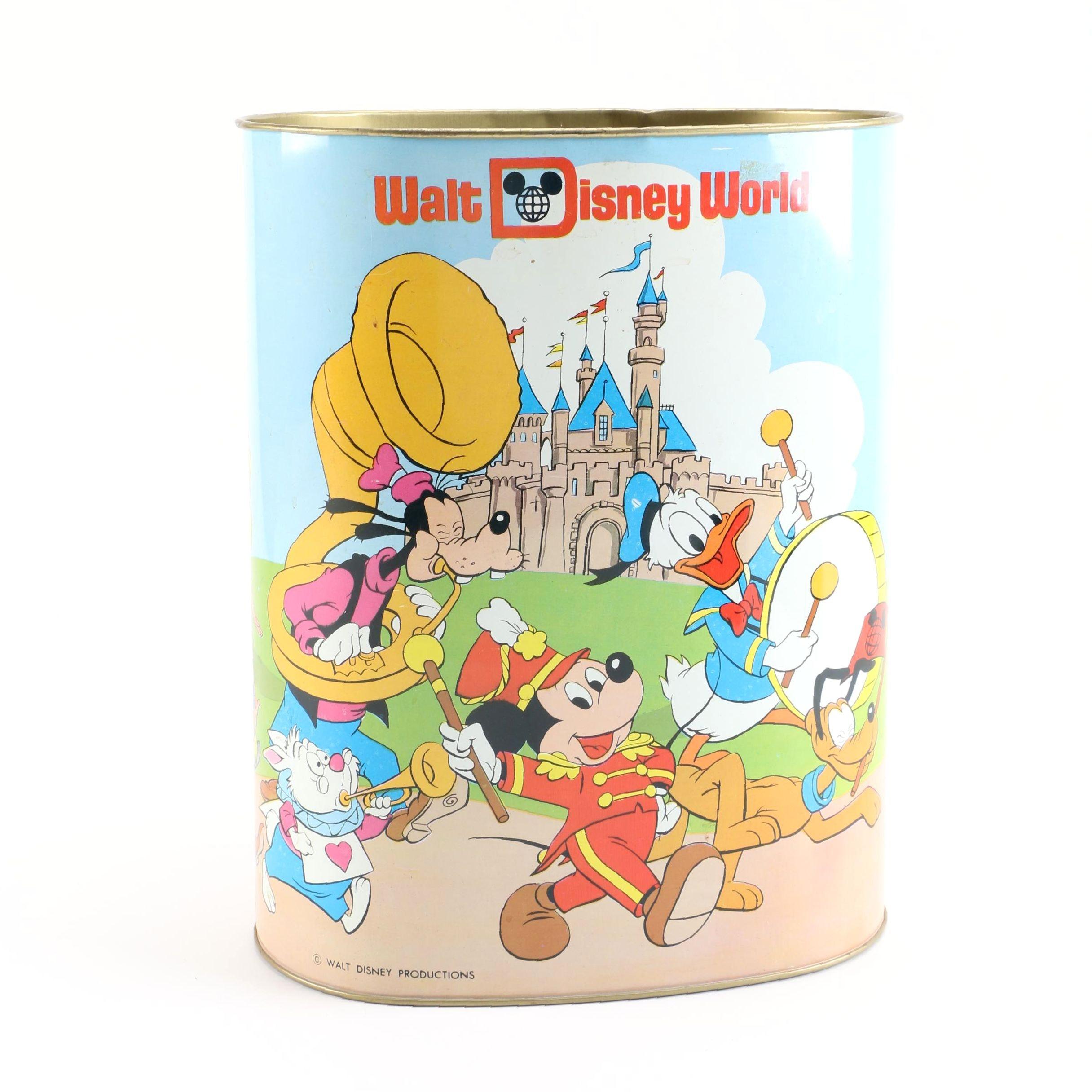Vintage Disney Themed Wastepaper Basket by Cheinco