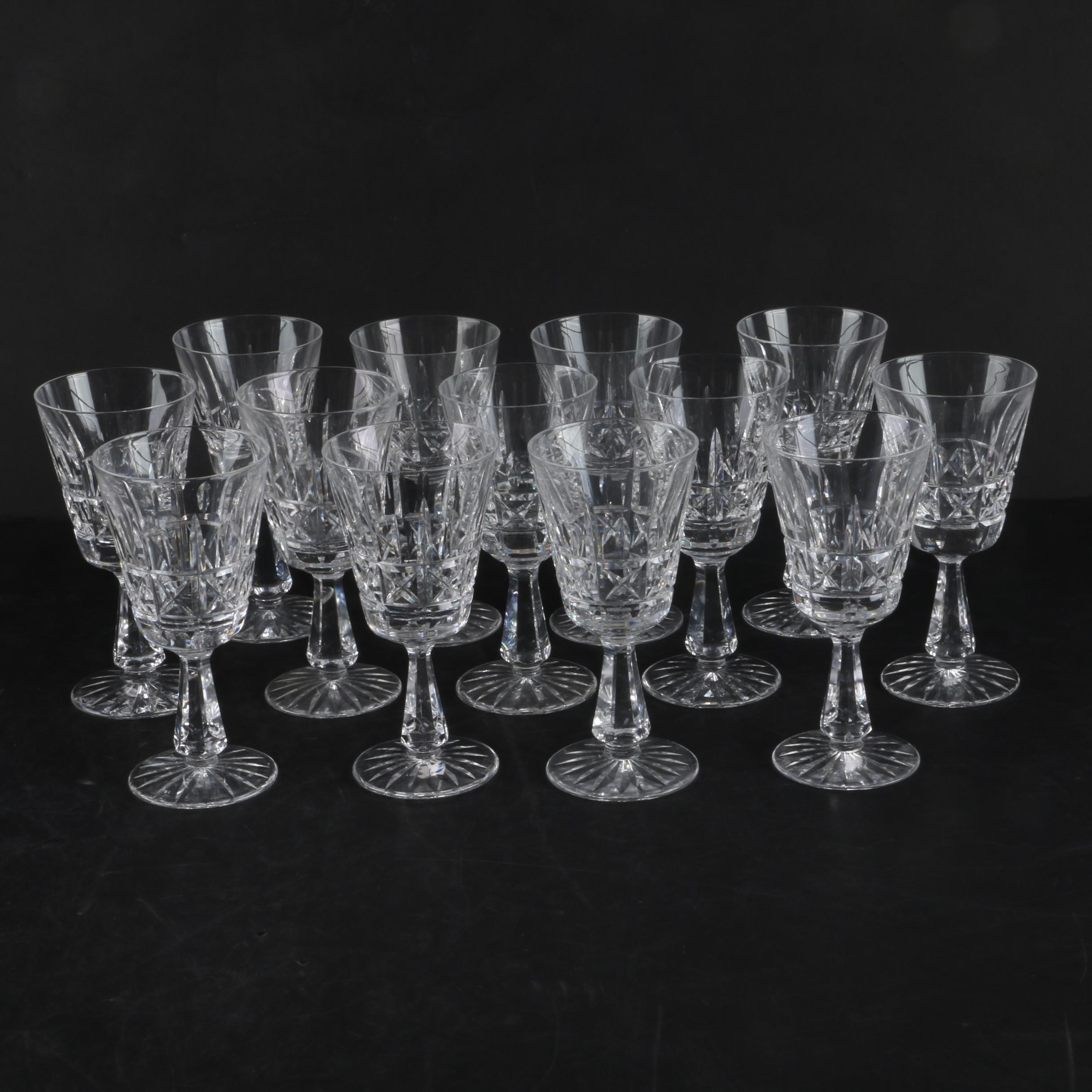 "Waterford Crystal ""Kylemore"" Claret Glasses"