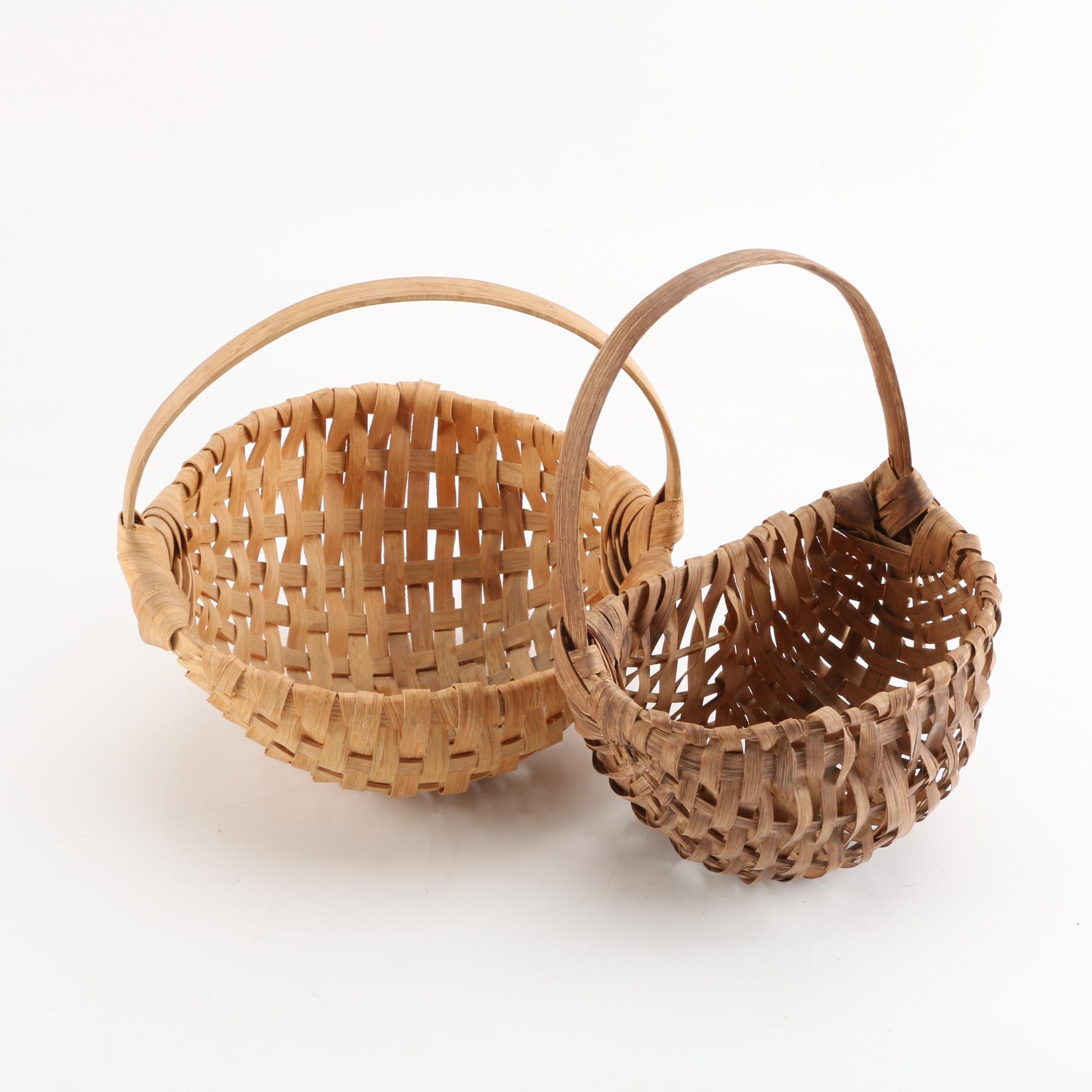 Vintage Handled Woven Baskets
