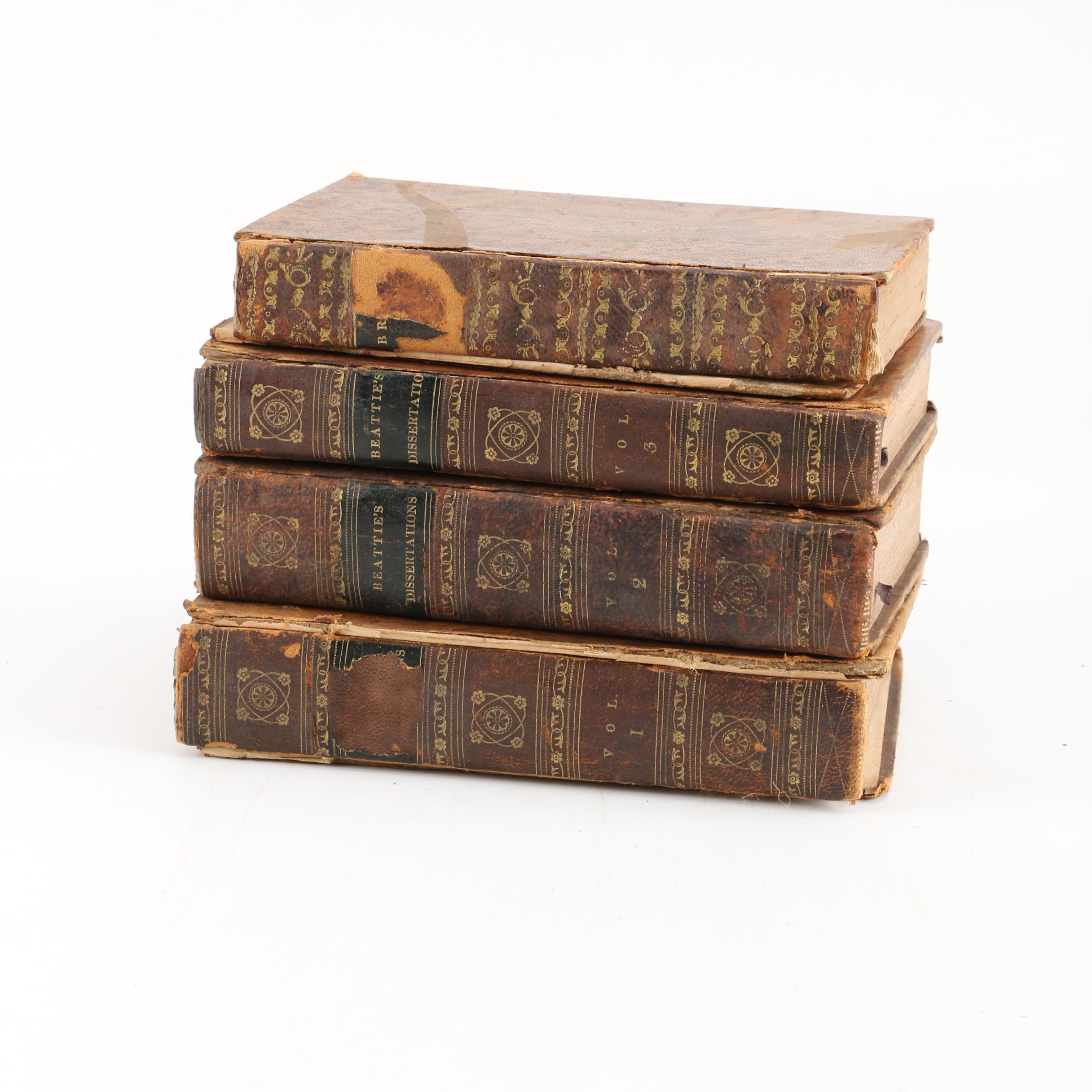 "1809 ""Beattie's Dissertations"" and 1810s ""Letters of the British Spy"""