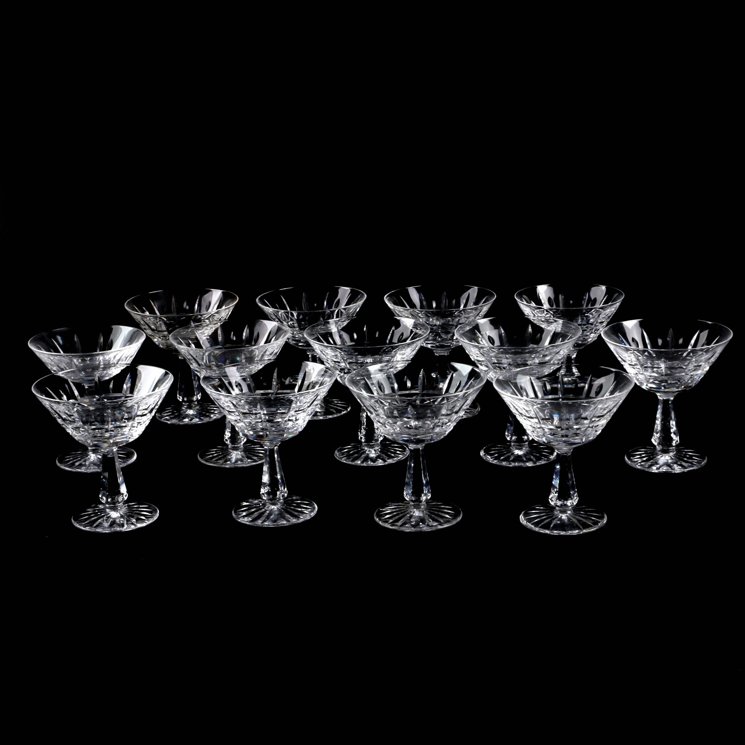 "Waterford Cyrstal ""Kylemore"" Coupe Champagne Glasses"