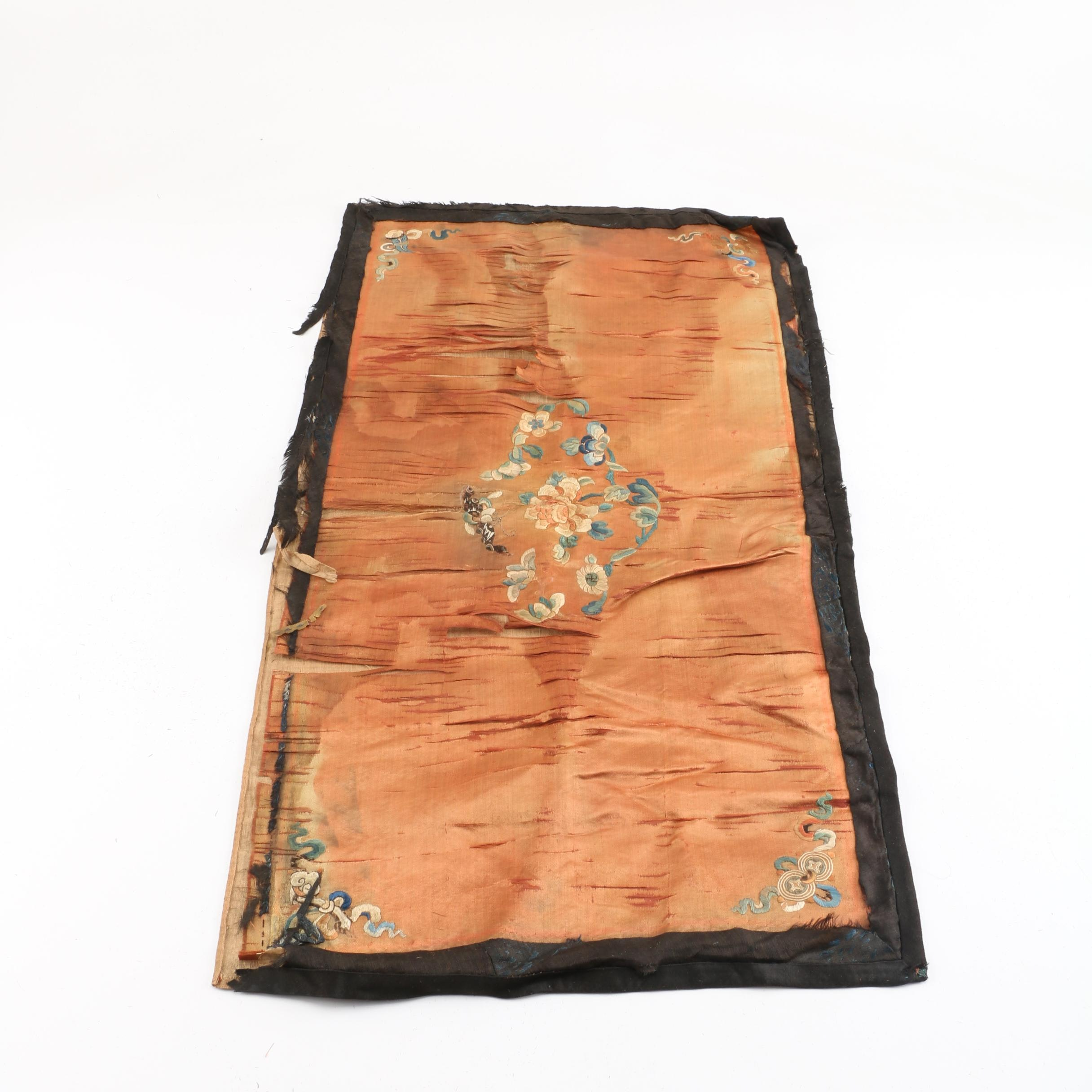 Chinese Antique Hand-Stitched Silk Embroidery