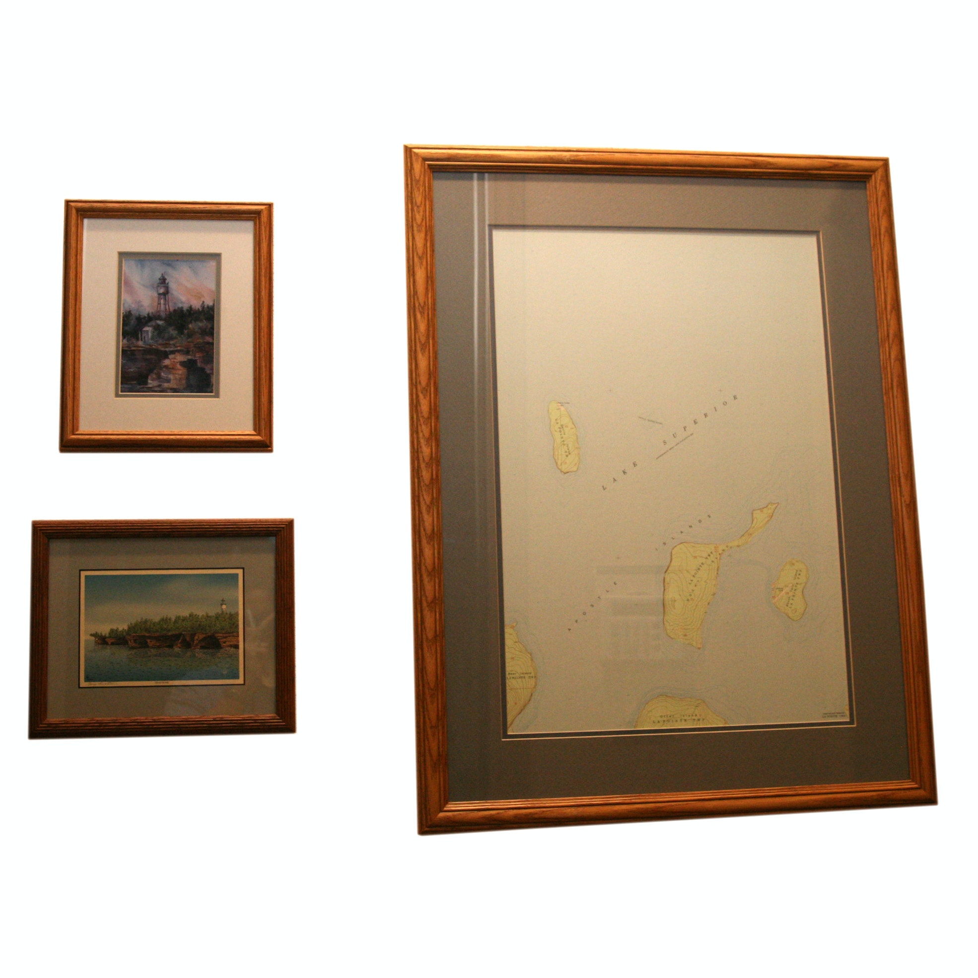 Reproduction Prints of Great Lakes Subjects Including Map of Apostle Islands