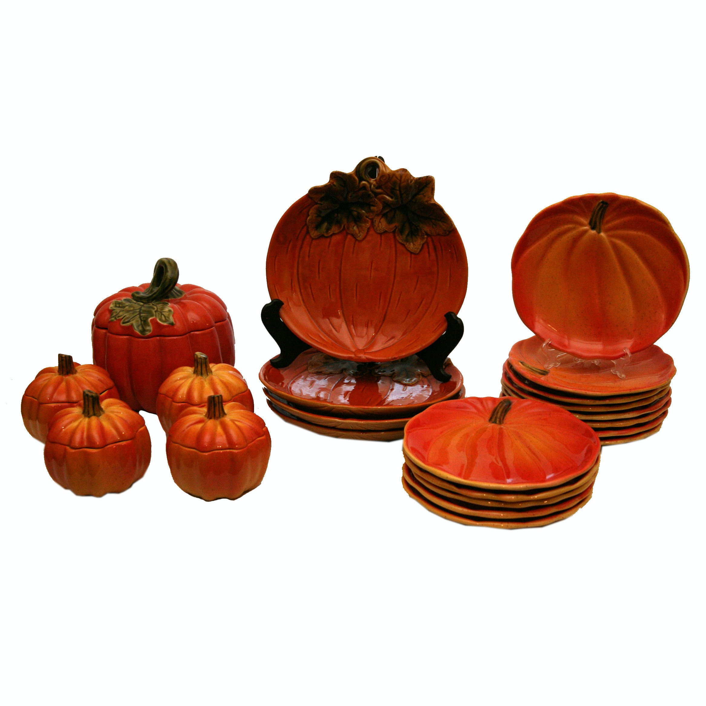 Pumpkin Motif Ceramic Tableware