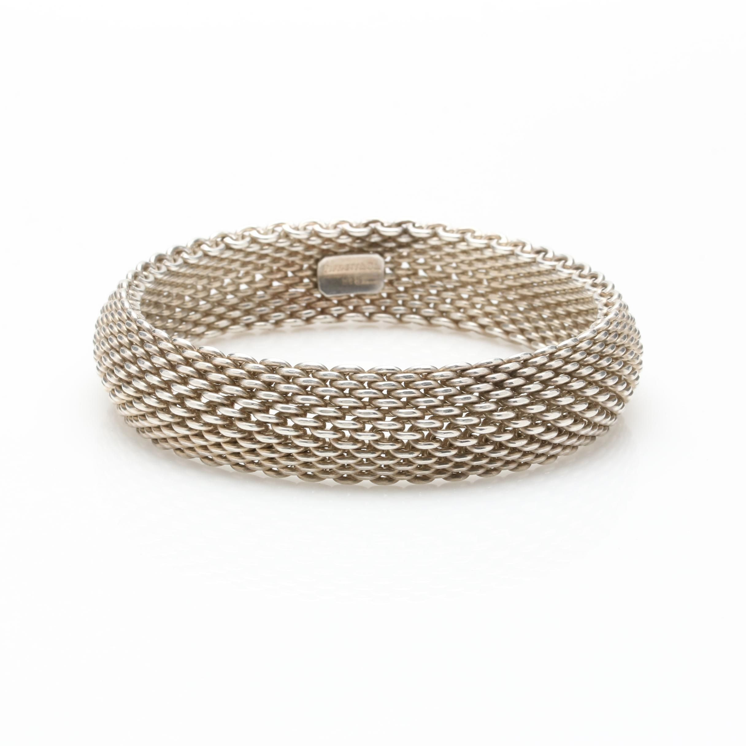 "Tiffany & Co. Sterling Silver ""Somerset"" Mesh Bracelet"