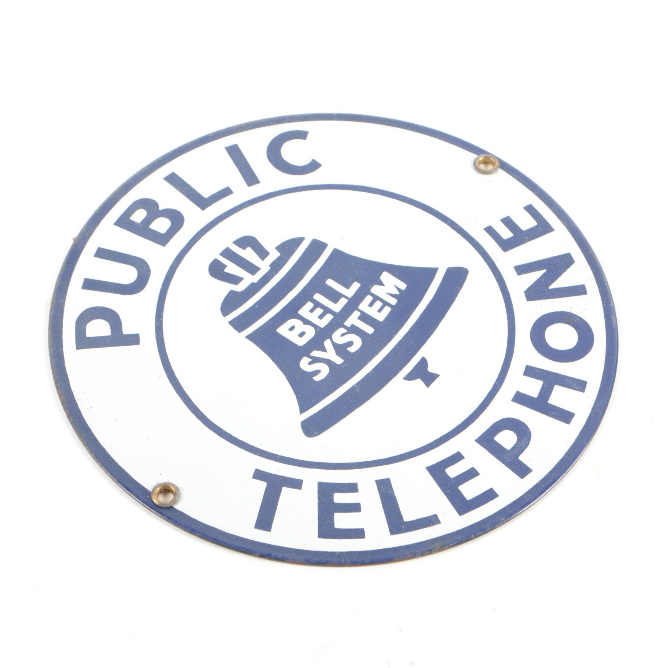 Public Telephone Sign