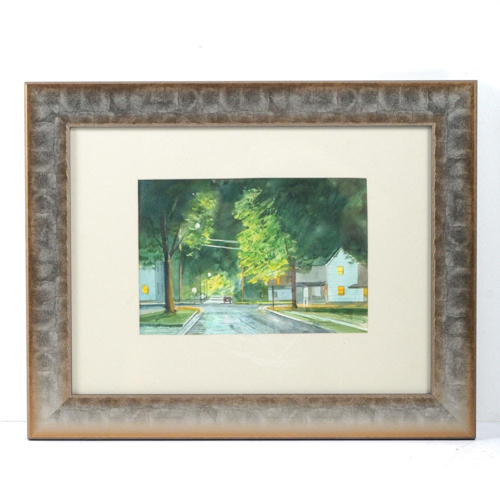 Original James DeVore Watercolor Painting