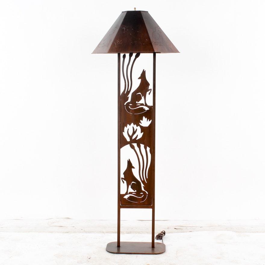 Southwestern Style Metal Floor Lamp Ebth