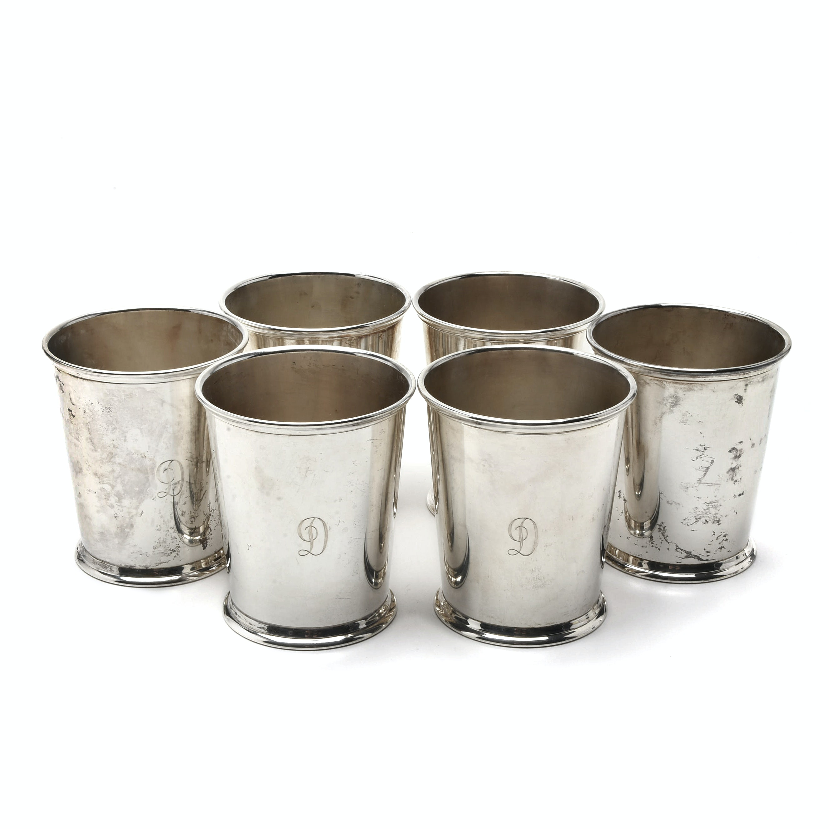 Six Sterling Silver S. Kirk & Son Mint Julep Cups