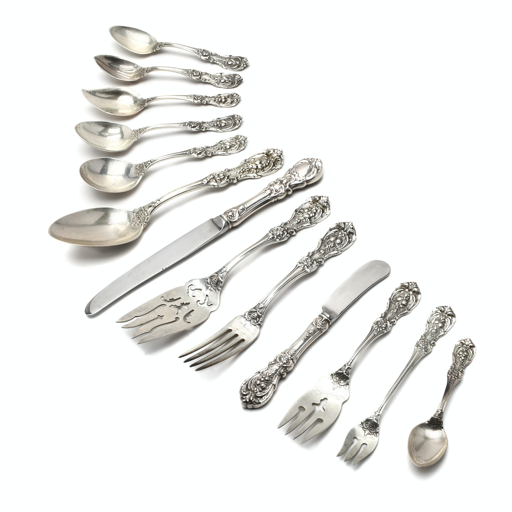 "80 Pieces of Reed and Barton Sterling Silver ""Francis 1"" Flatware"