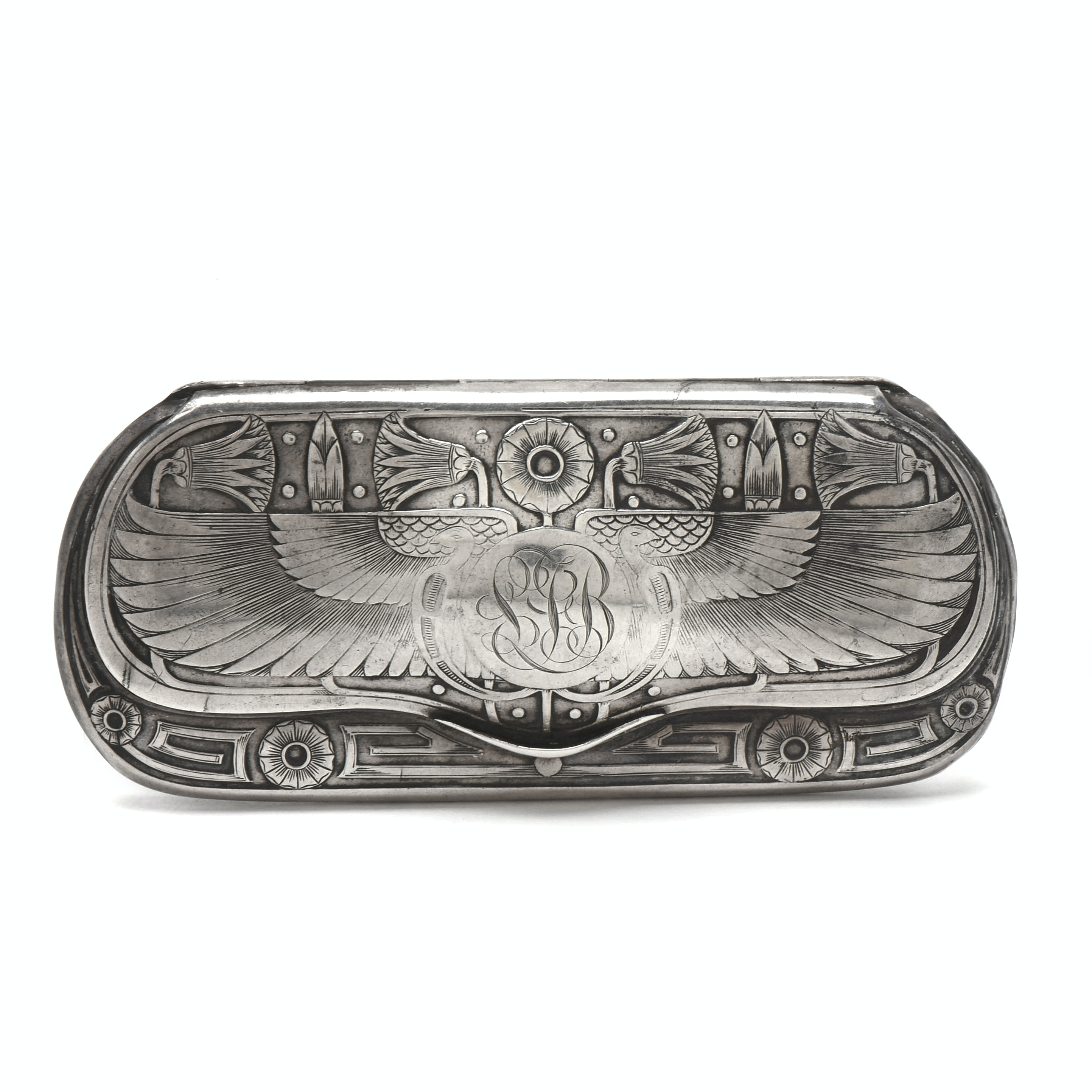 Art Deco Sterling Silver Eyeglass Case