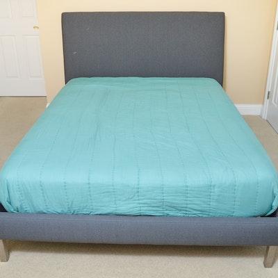 Velour Bed Frame Queen